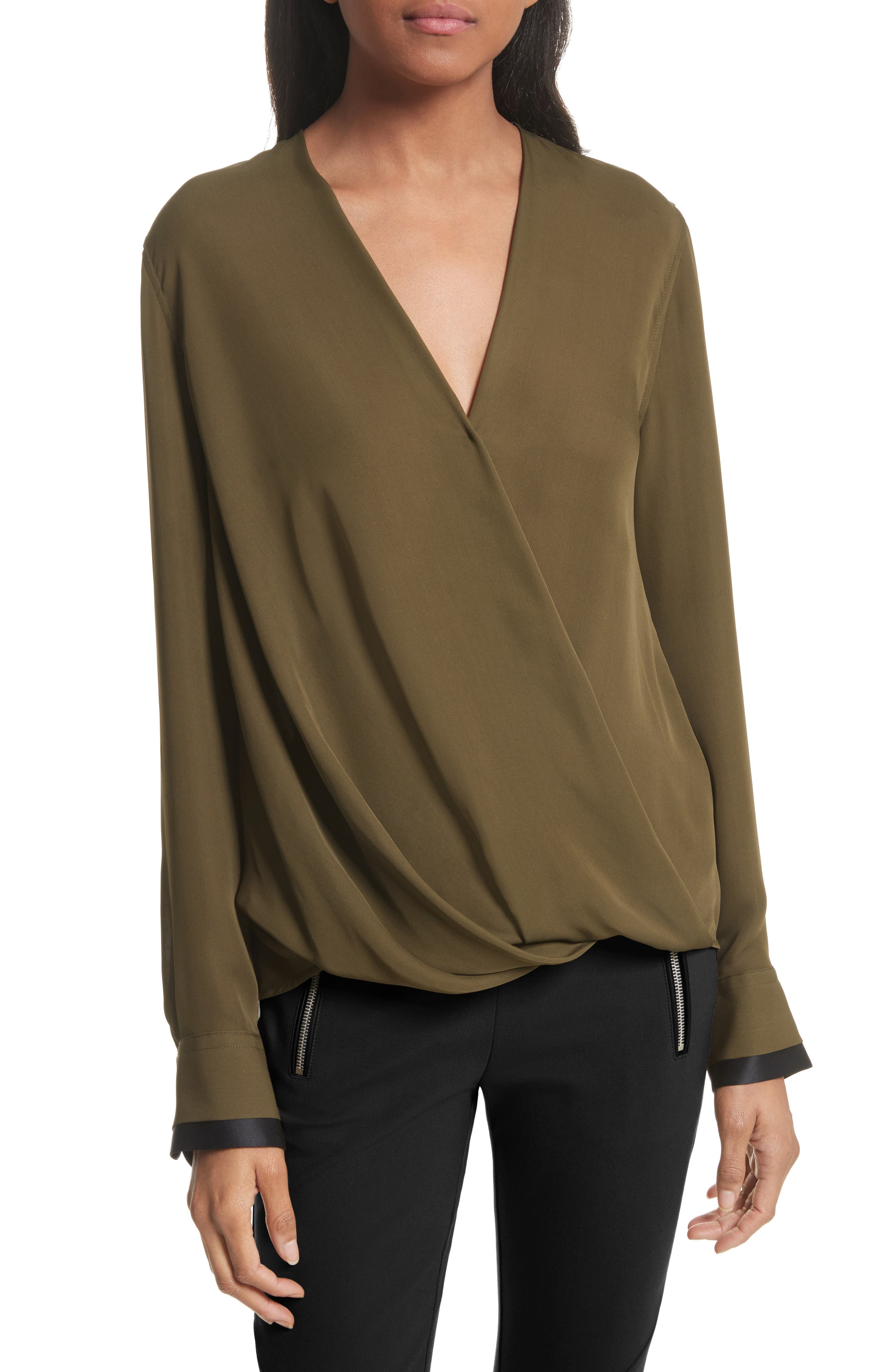 Victor Silk Blouse,                         Main,                         color, 308