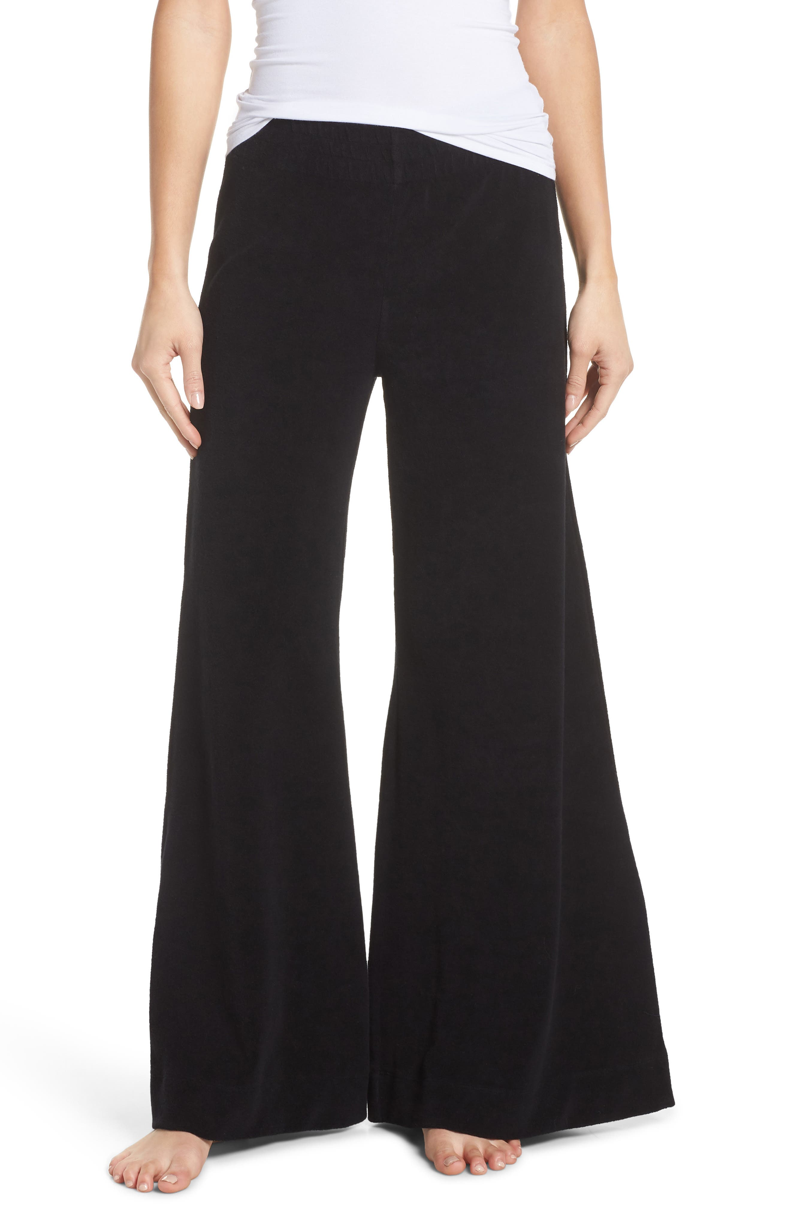 Terry Flare Lounge Pants,                         Main,                         color, 001