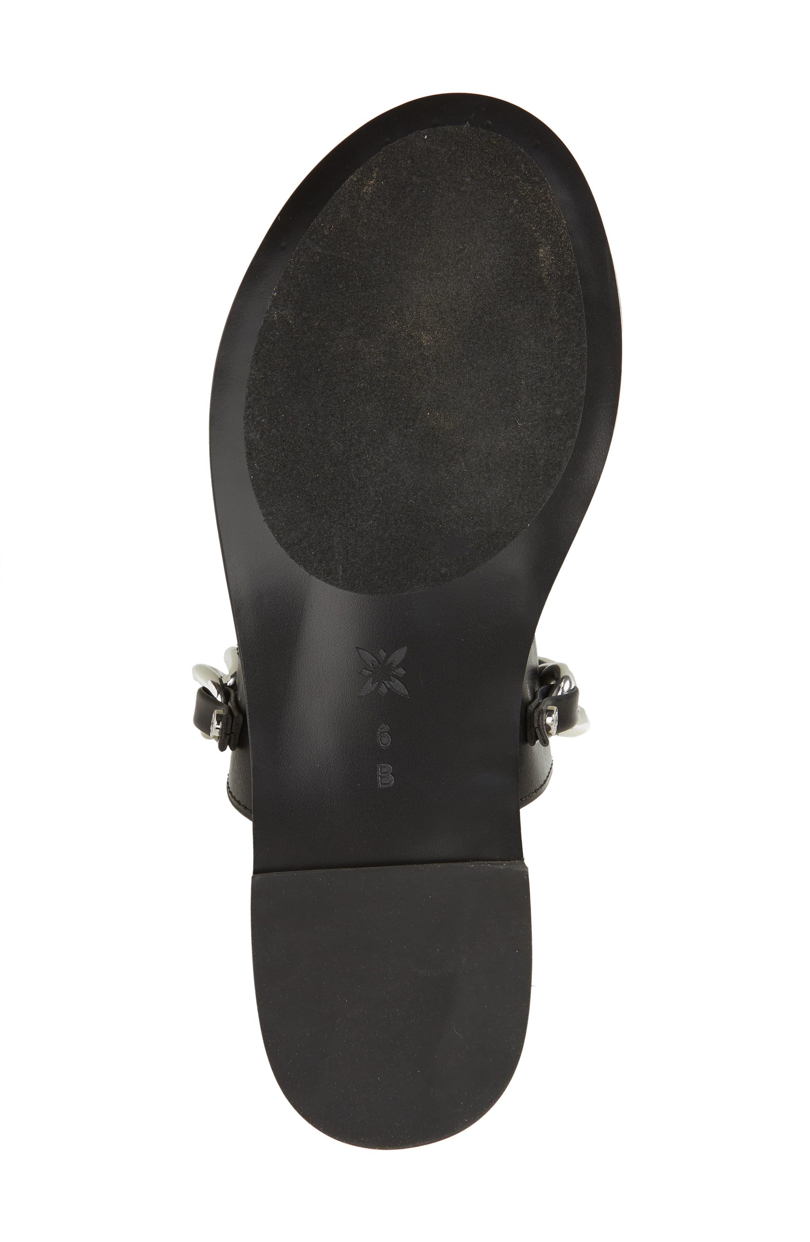 Zola Chain Slide Sandal,                             Alternate thumbnail 6, color,                             BLACK