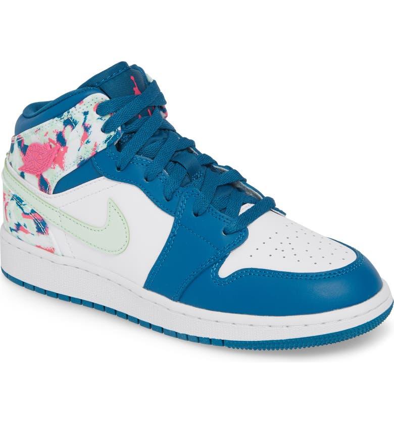 sale retailer 7e043 8a2ed JORDAN Nike  Air Jordan 1 Mid  Sneaker, Main, color, GREEN ABYSS