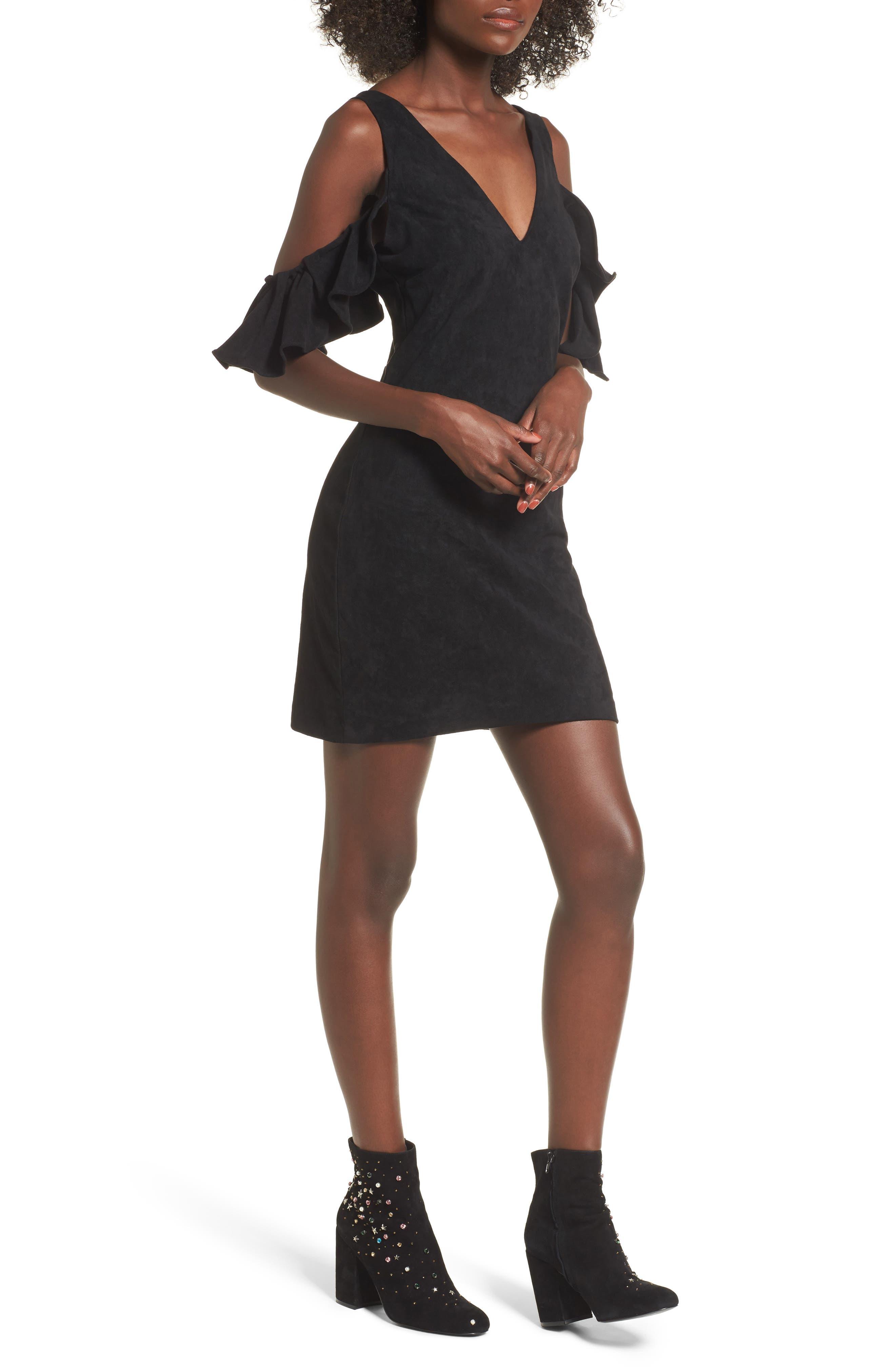 Deane Cold Shoulder Sheath Dress,                             Main thumbnail 1, color,                             001