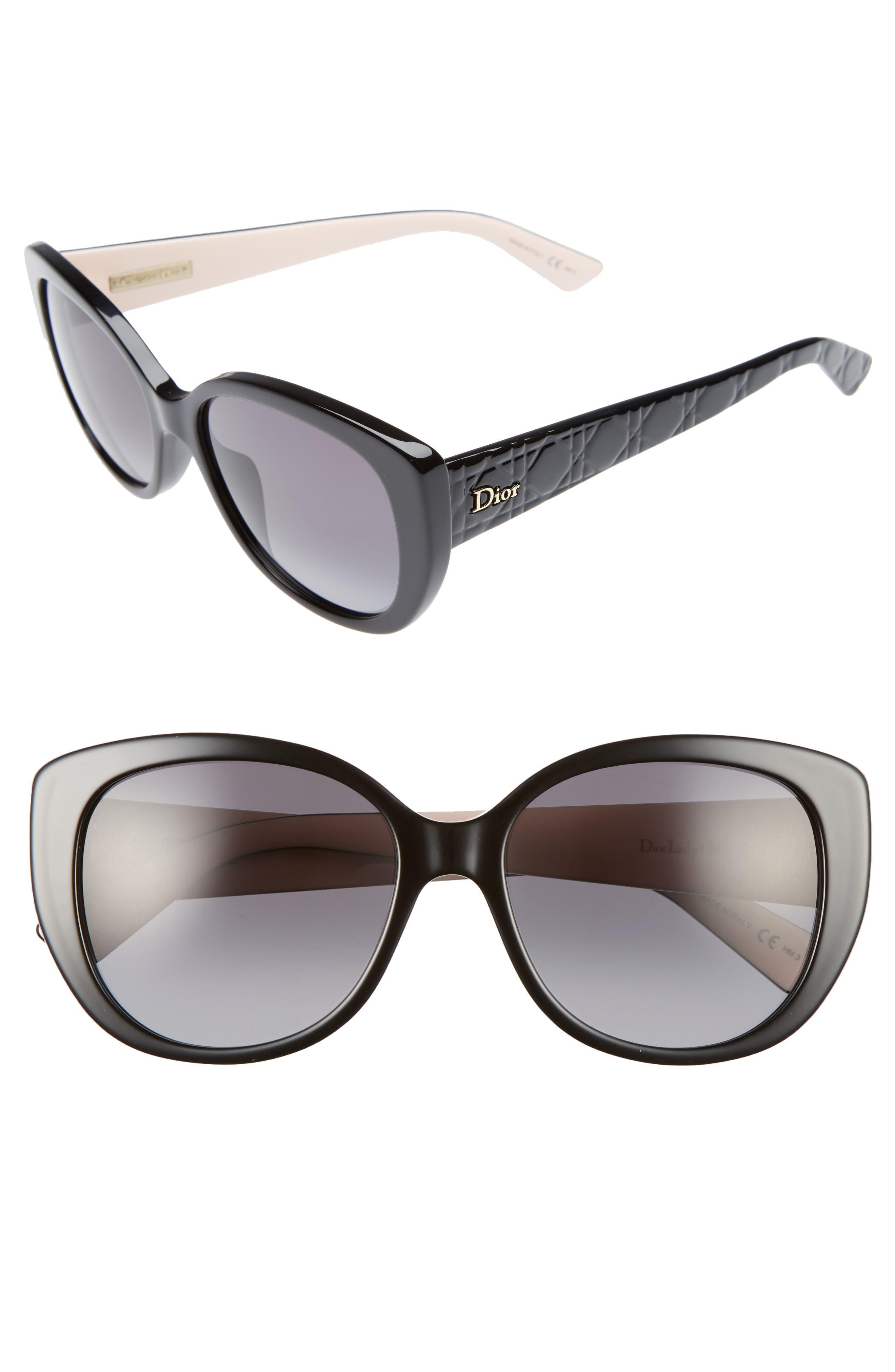 Lady 55mm Cat Eye Sunglasses,                             Main thumbnail 1, color,