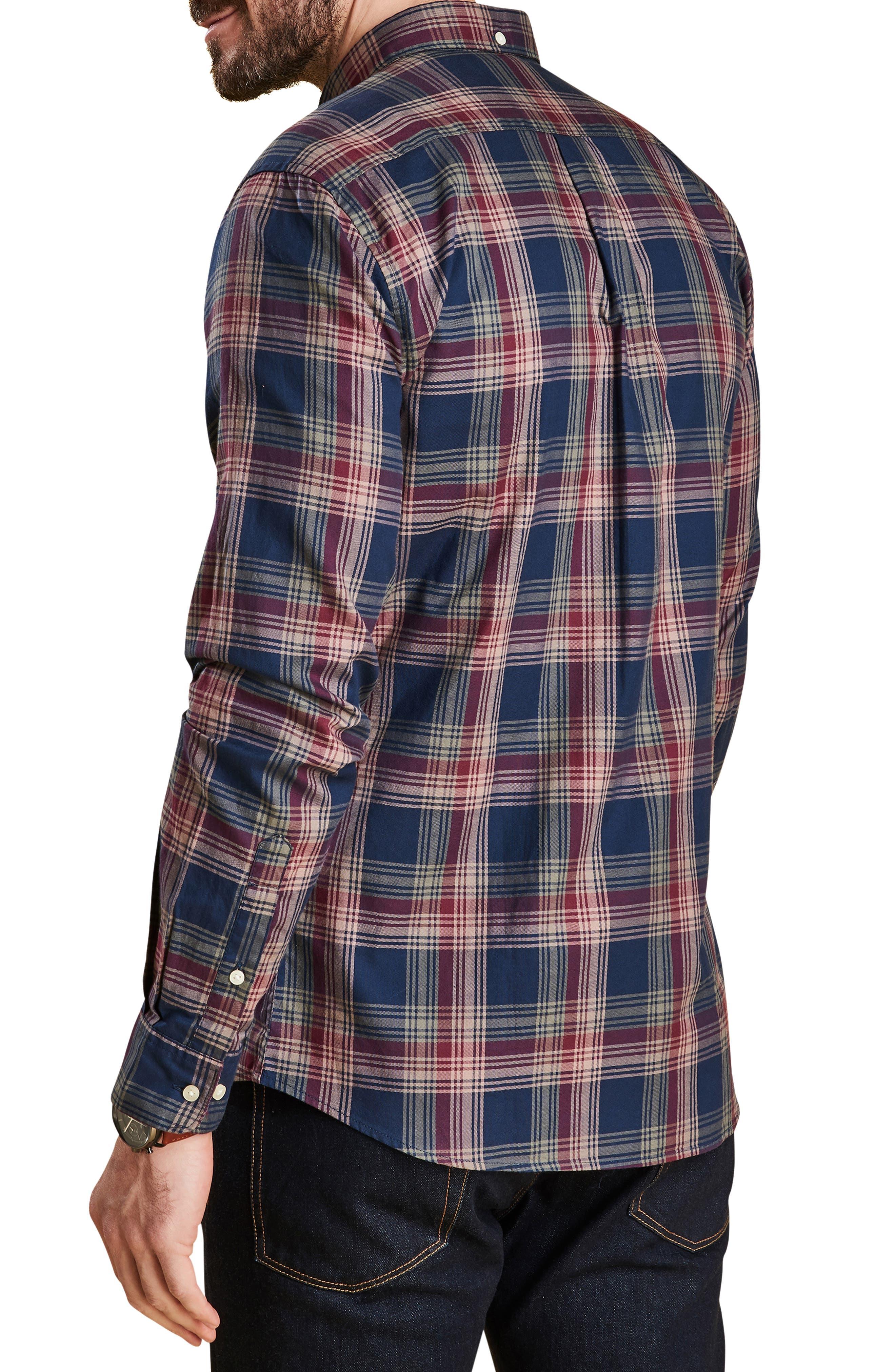 Endsleigh Highland Check Woven Shirt,                             Alternate thumbnail 3, color,                             NAVY