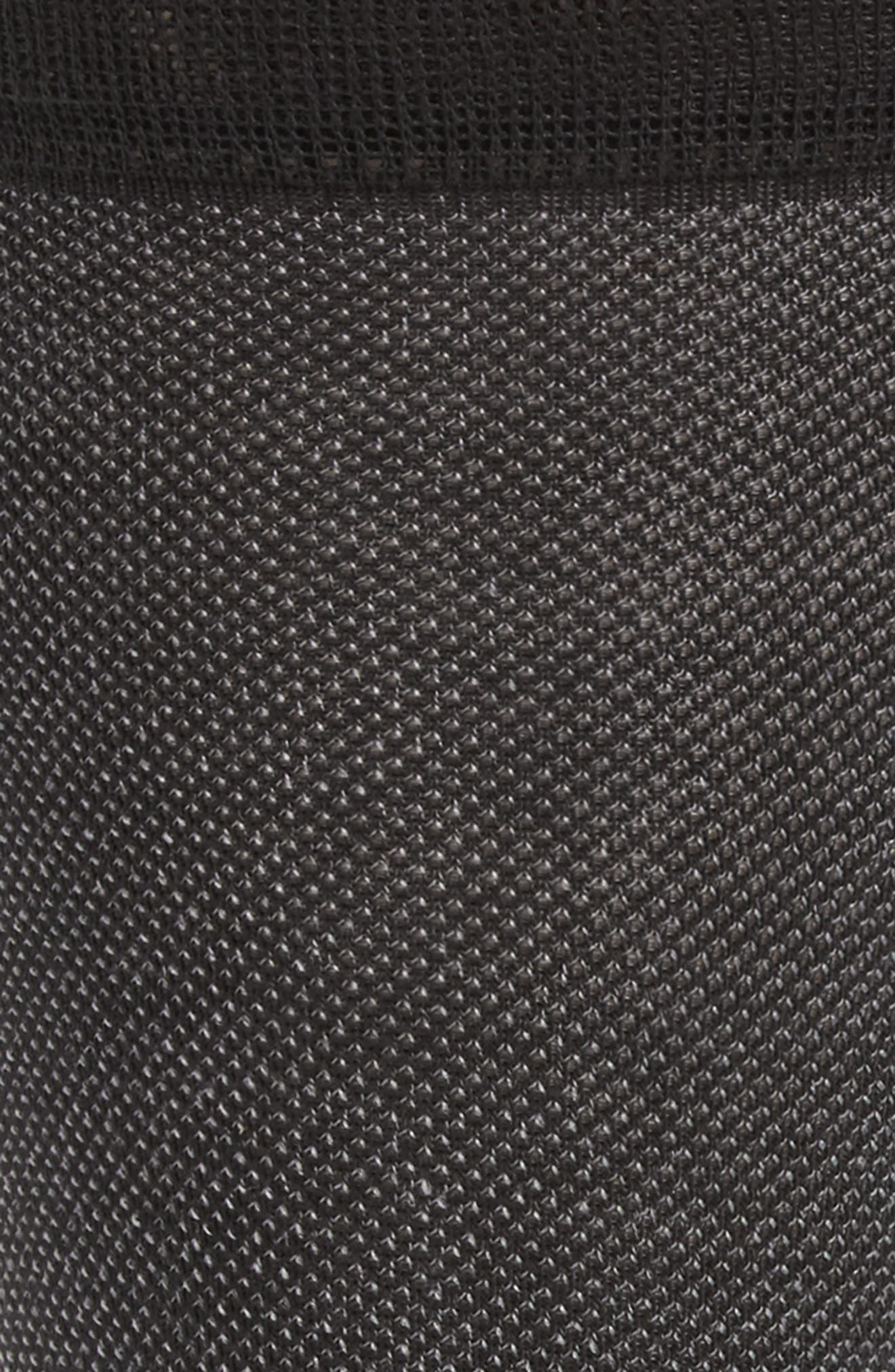 Piqué Texture Crew Socks,                             Alternate thumbnail 3, color,                             BLACK