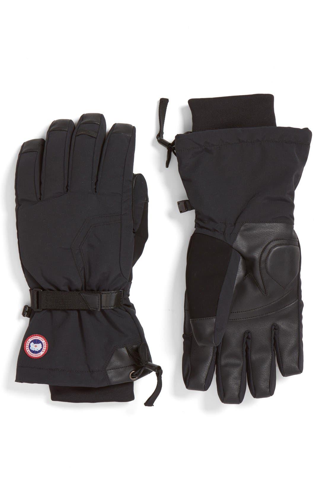 Arctic Down Gloves,                             Main thumbnail 1, color,                             BLACK