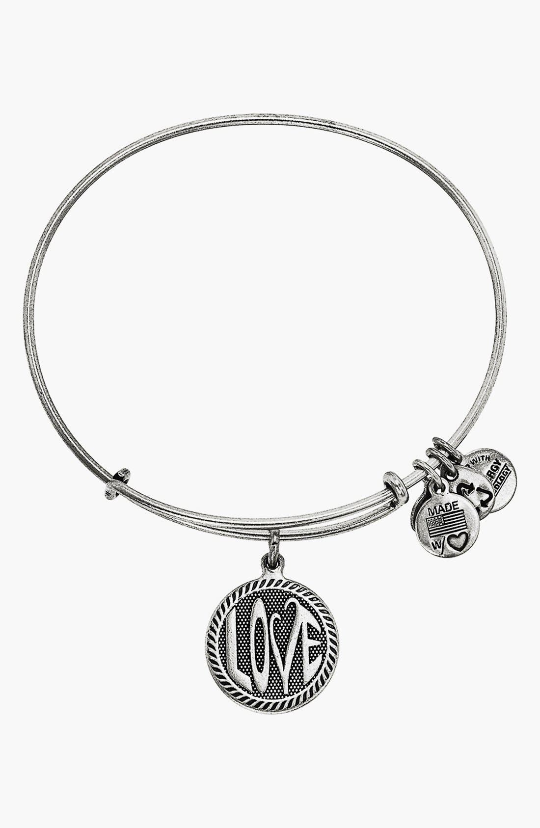 'Open Love' Expandable Wire Bangle,                         Main,                         color, 040