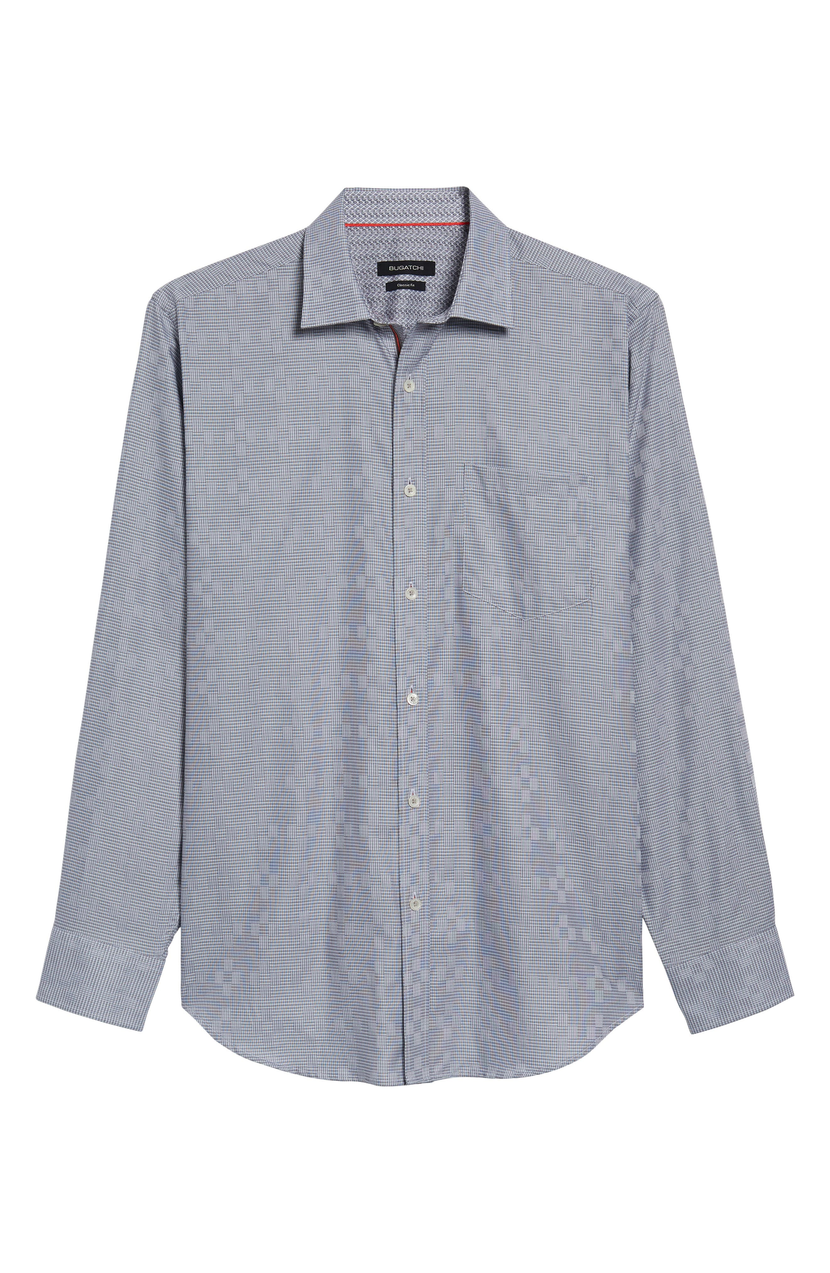 Classic Fit Print Sport Shirt,                             Alternate thumbnail 6, color,                             020