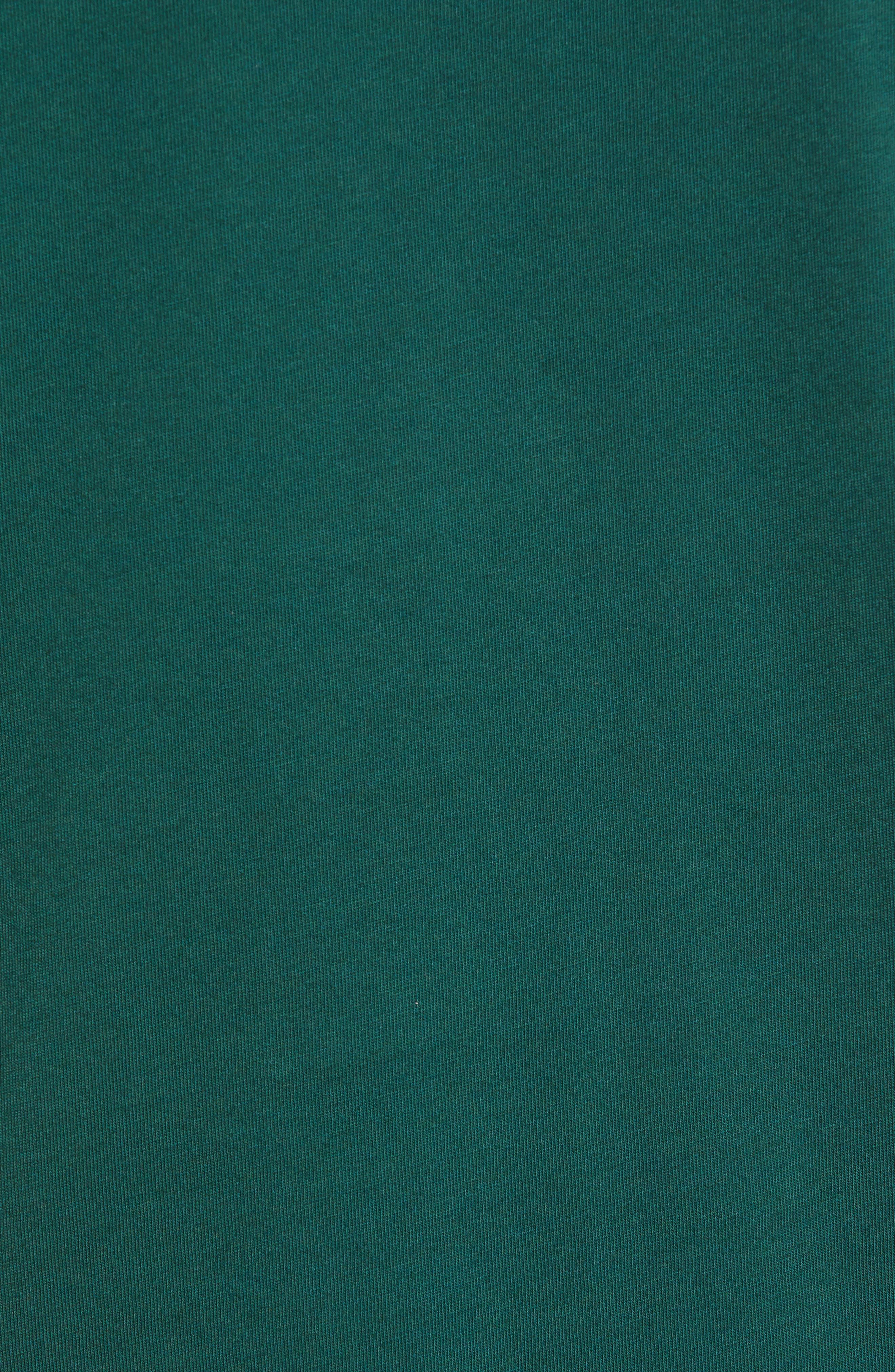 Jacquard Sleeve Top,                             Alternate thumbnail 5, color,                             DARK EMERALD