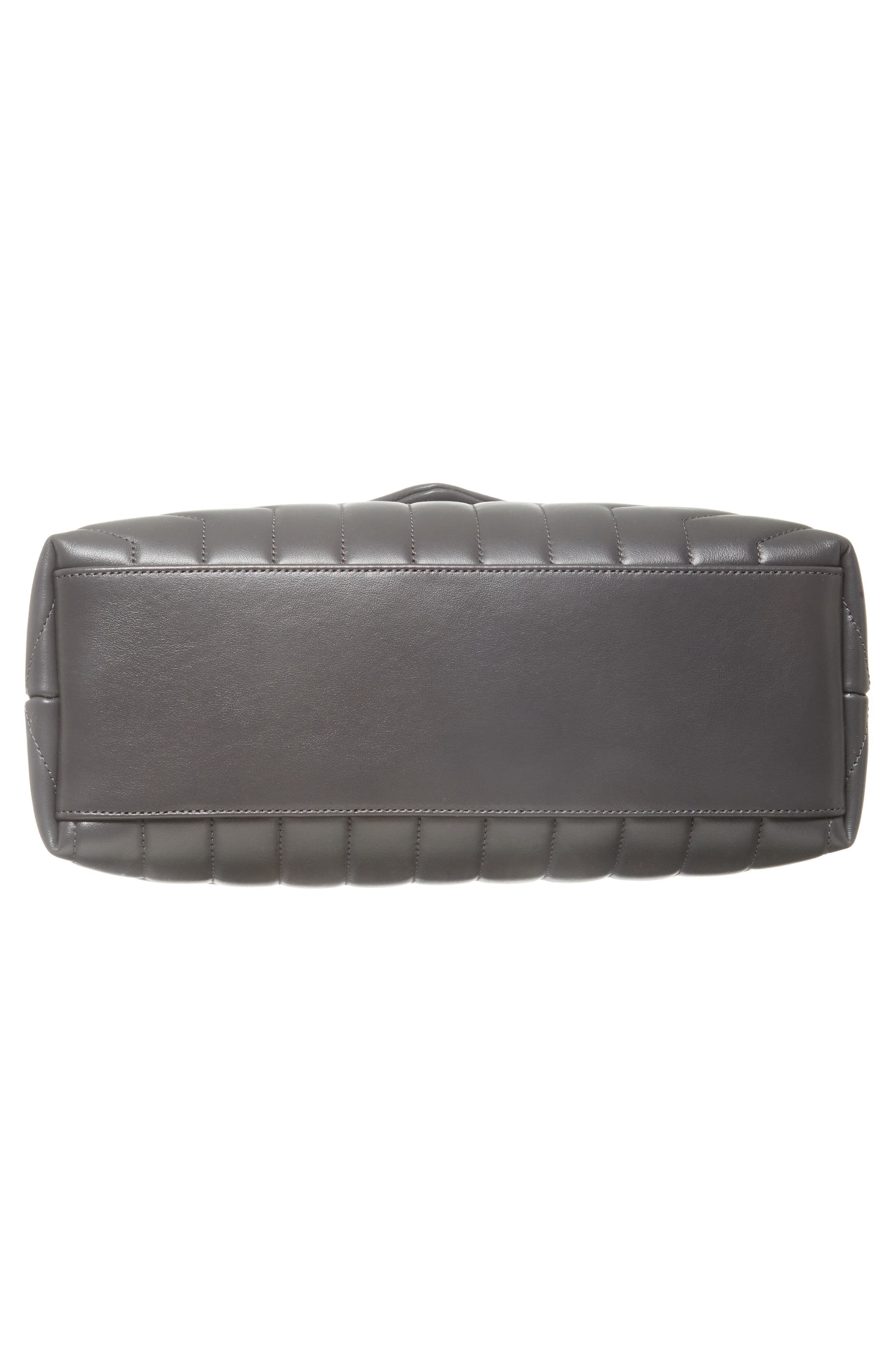 Medium Loulou Calfskin Leather Shoulder Bag,                             Alternate thumbnail 6, color,                             STORM/ STORM