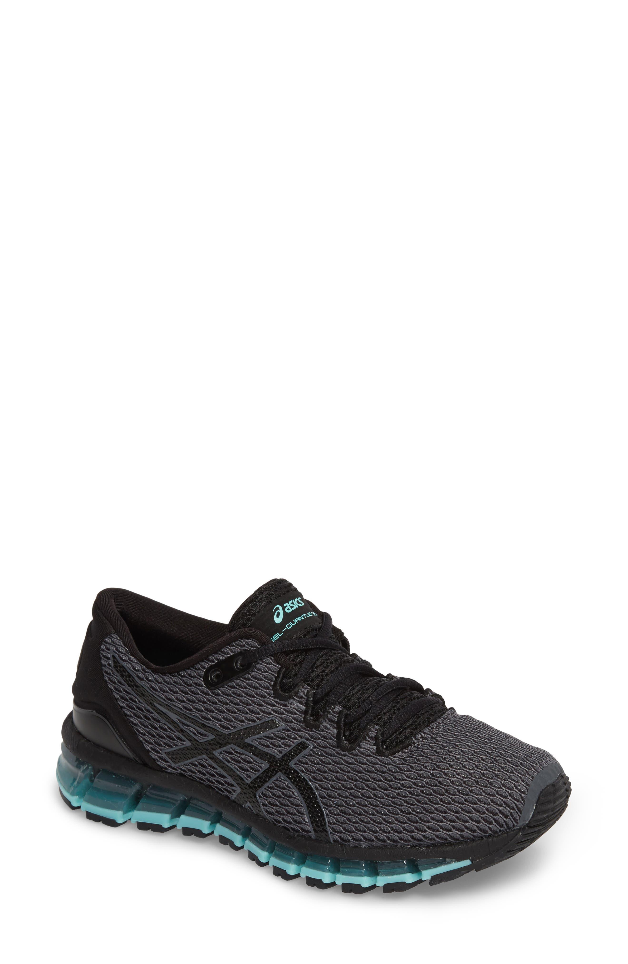 GEL-Quantum 360 Shift MX Running Shoe,                         Main,                         color, CARBON/ BLACK/ ARUBA BLUE
