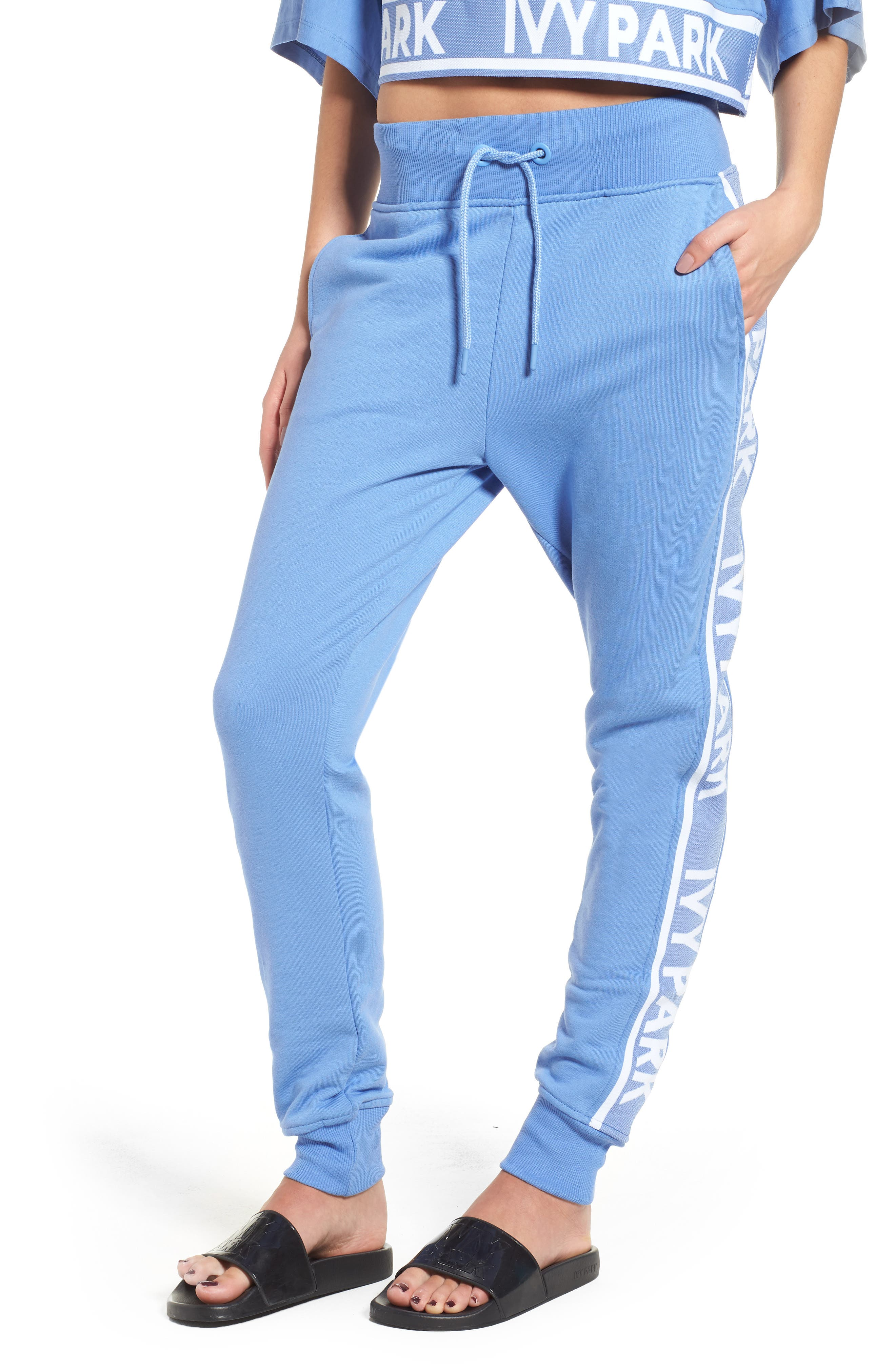 Logo Tape Jogger Pants,                             Main thumbnail 1, color,                             WEDGEWOOD BLUE