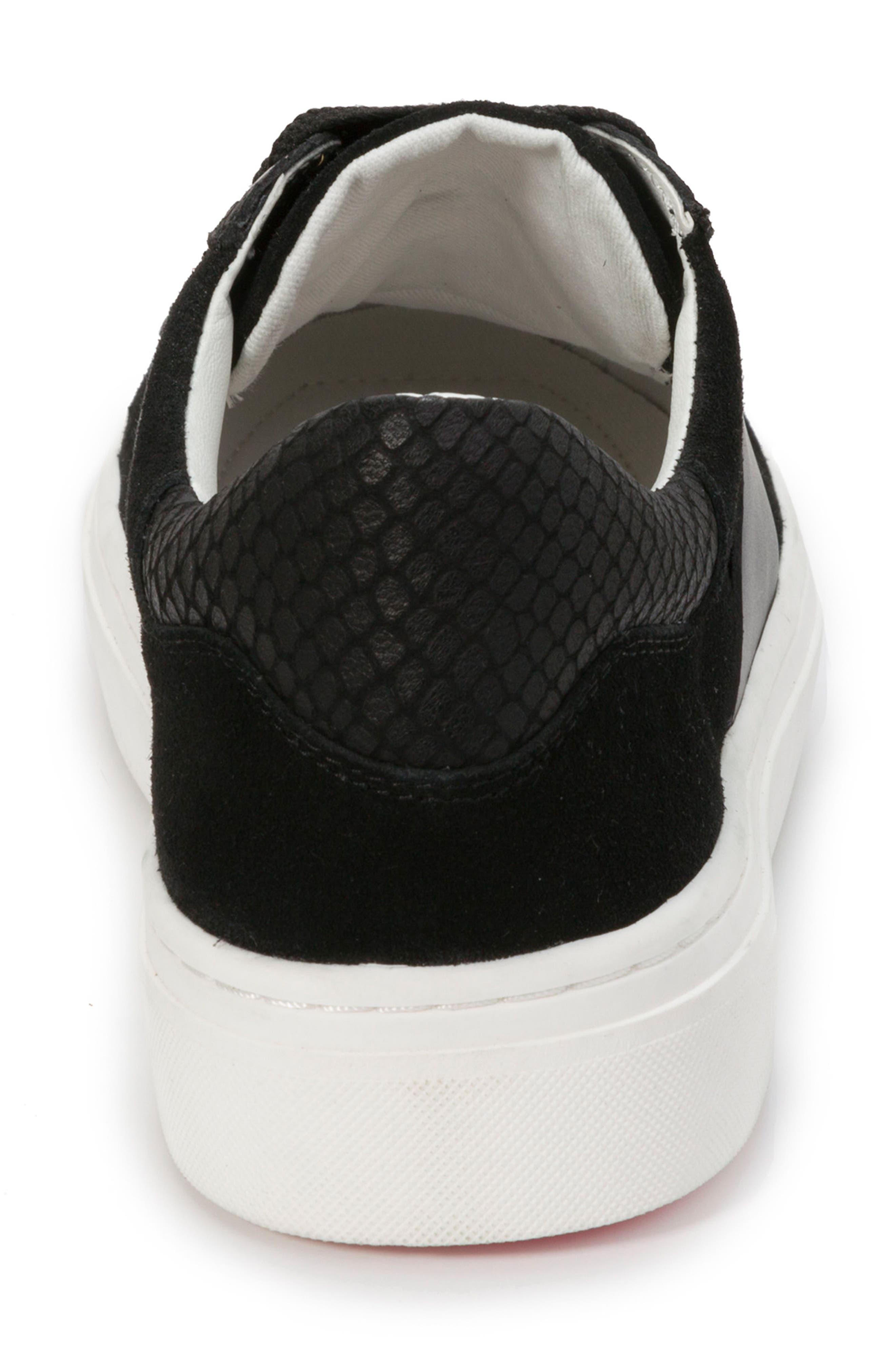 Fallon Sneaker,                             Alternate thumbnail 7, color,                             BLACK SUEDE