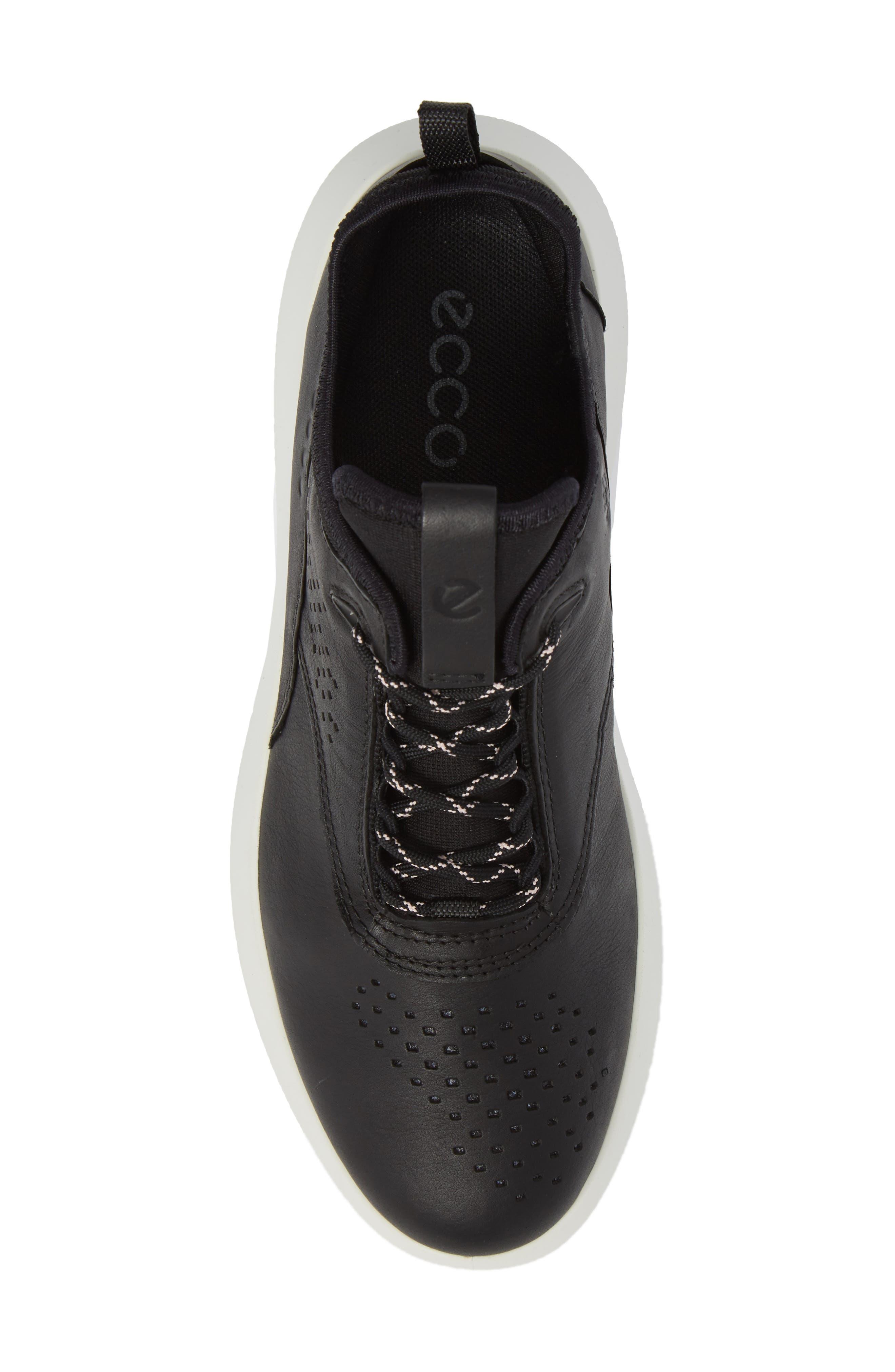 Scinapse Sneaker,                             Alternate thumbnail 5, color,                             BLACK LEATHER