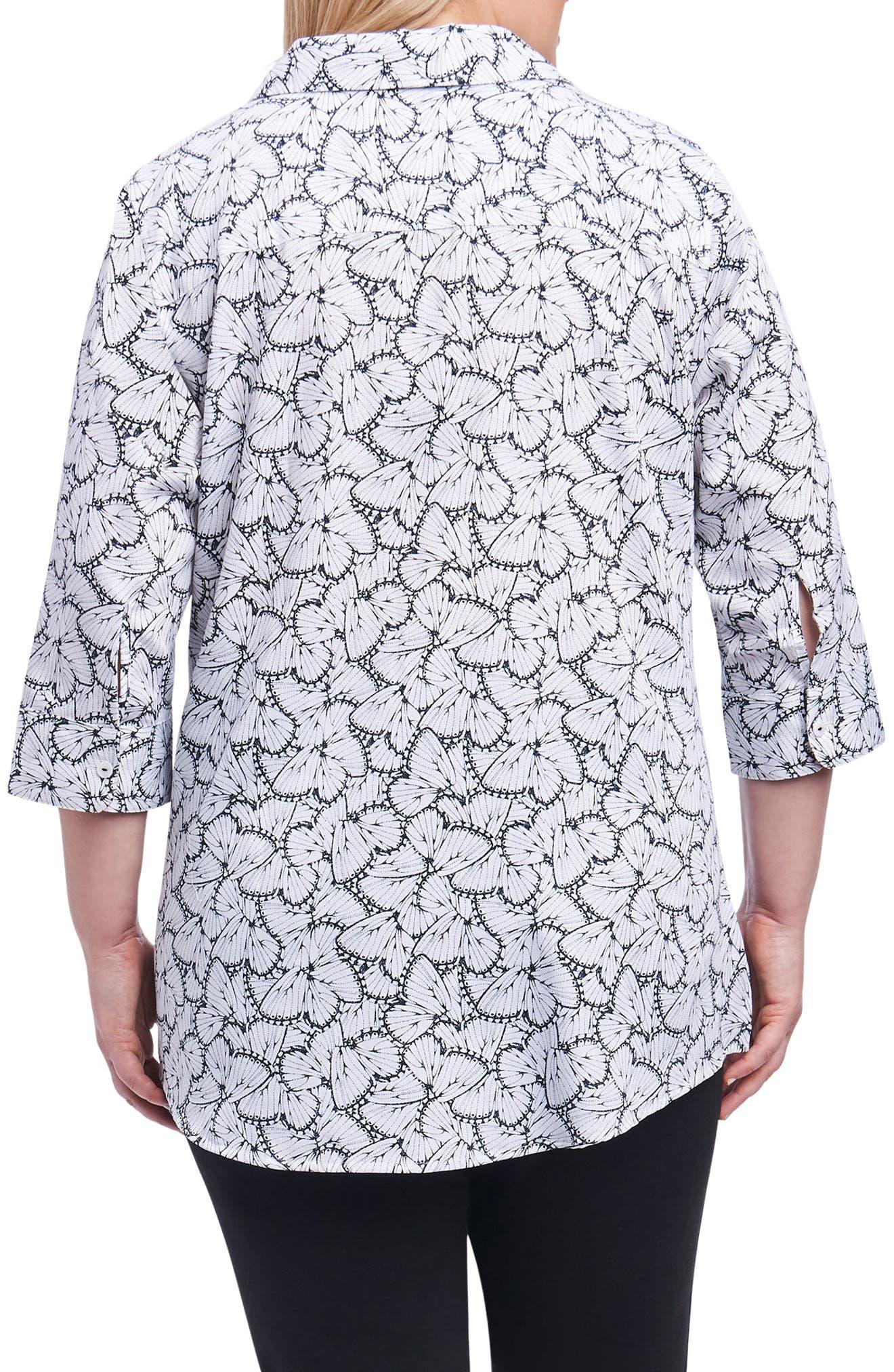 Faith Butterfly Print Shirt,                             Alternate thumbnail 2, color,                             100