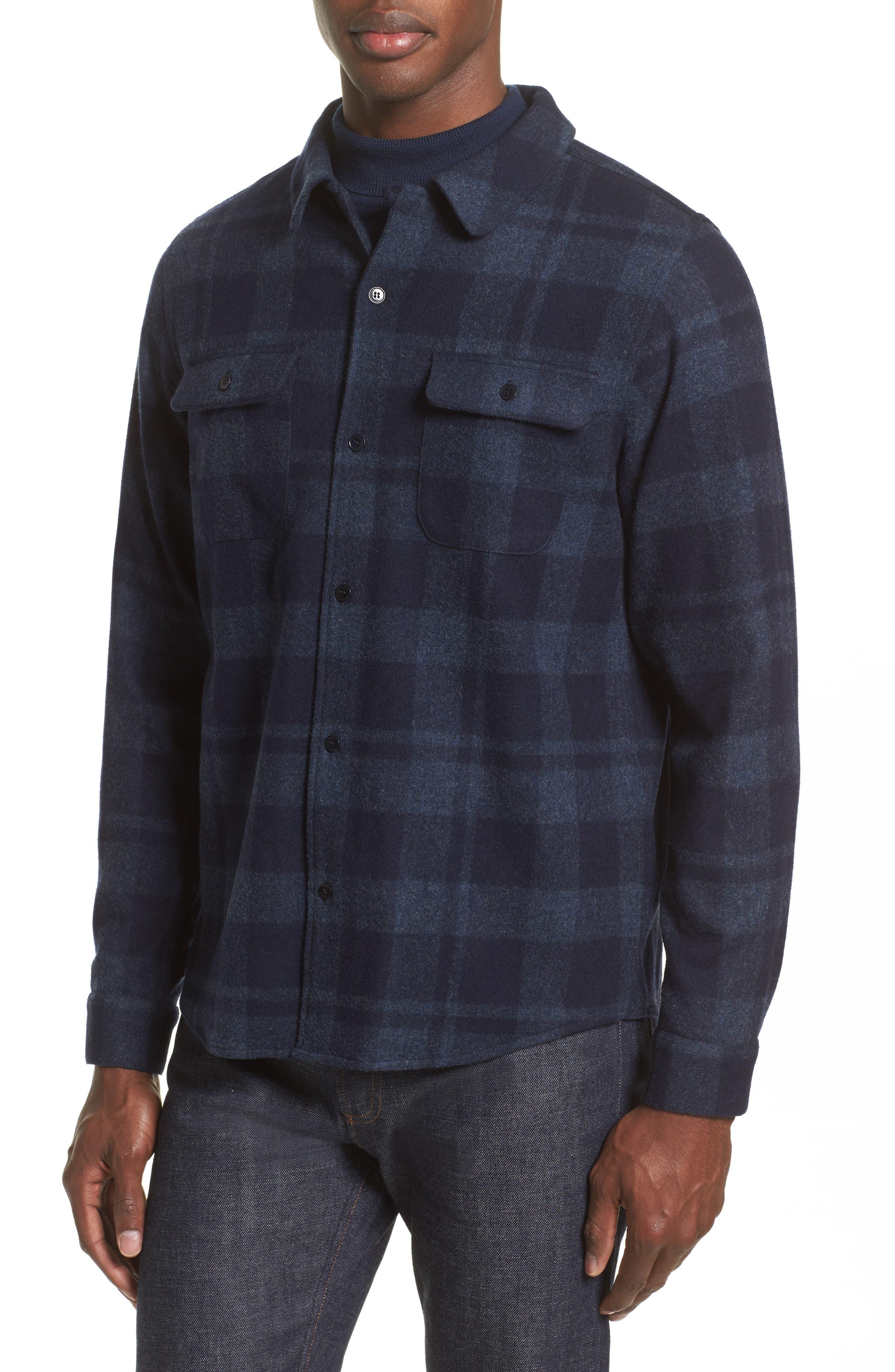 Flannel Plaid Shirt,                             Alternate thumbnail 5, color,                             420