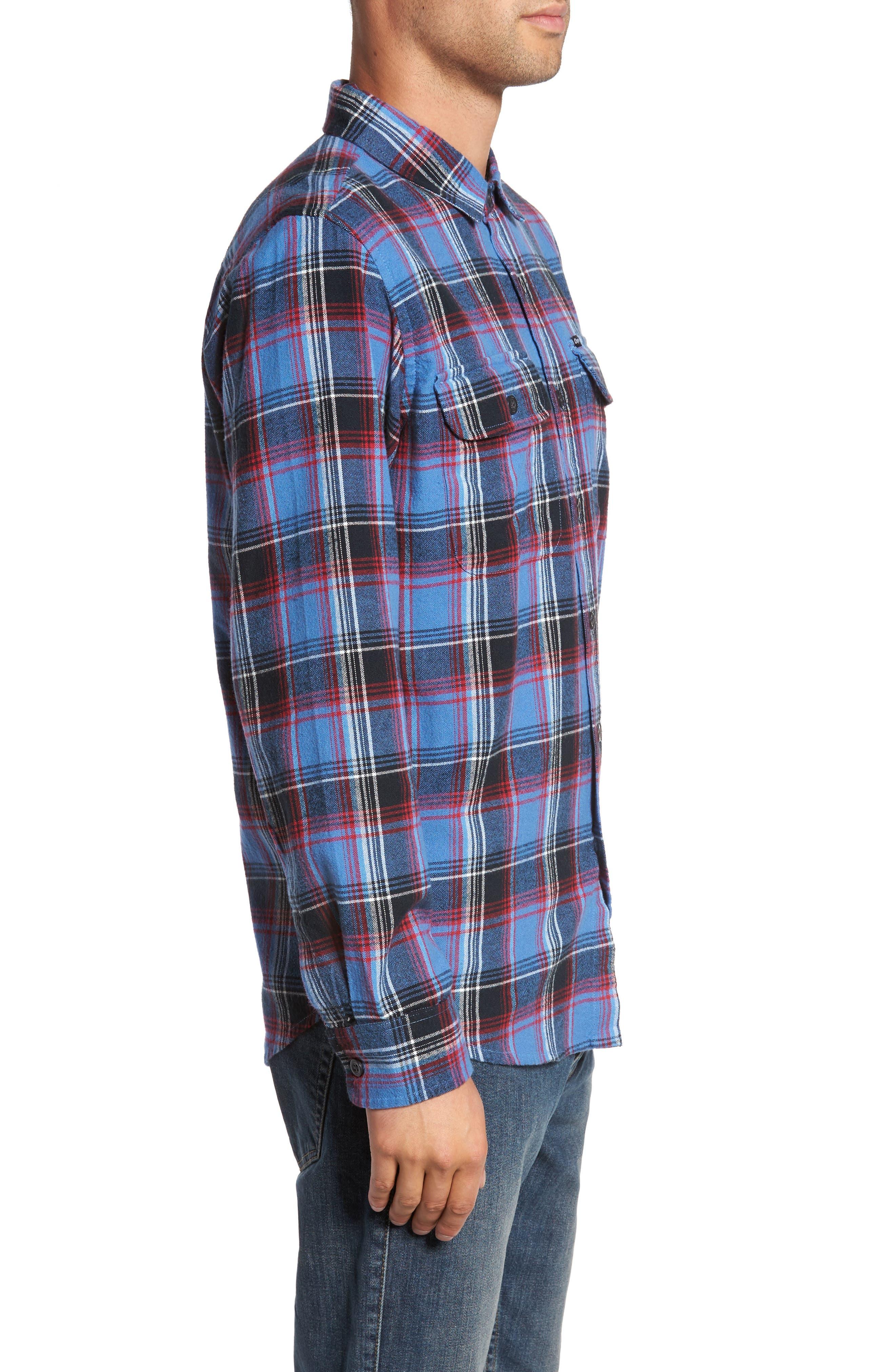 Marvyn Plaid Woven Shirt,                             Alternate thumbnail 3, color,                             410