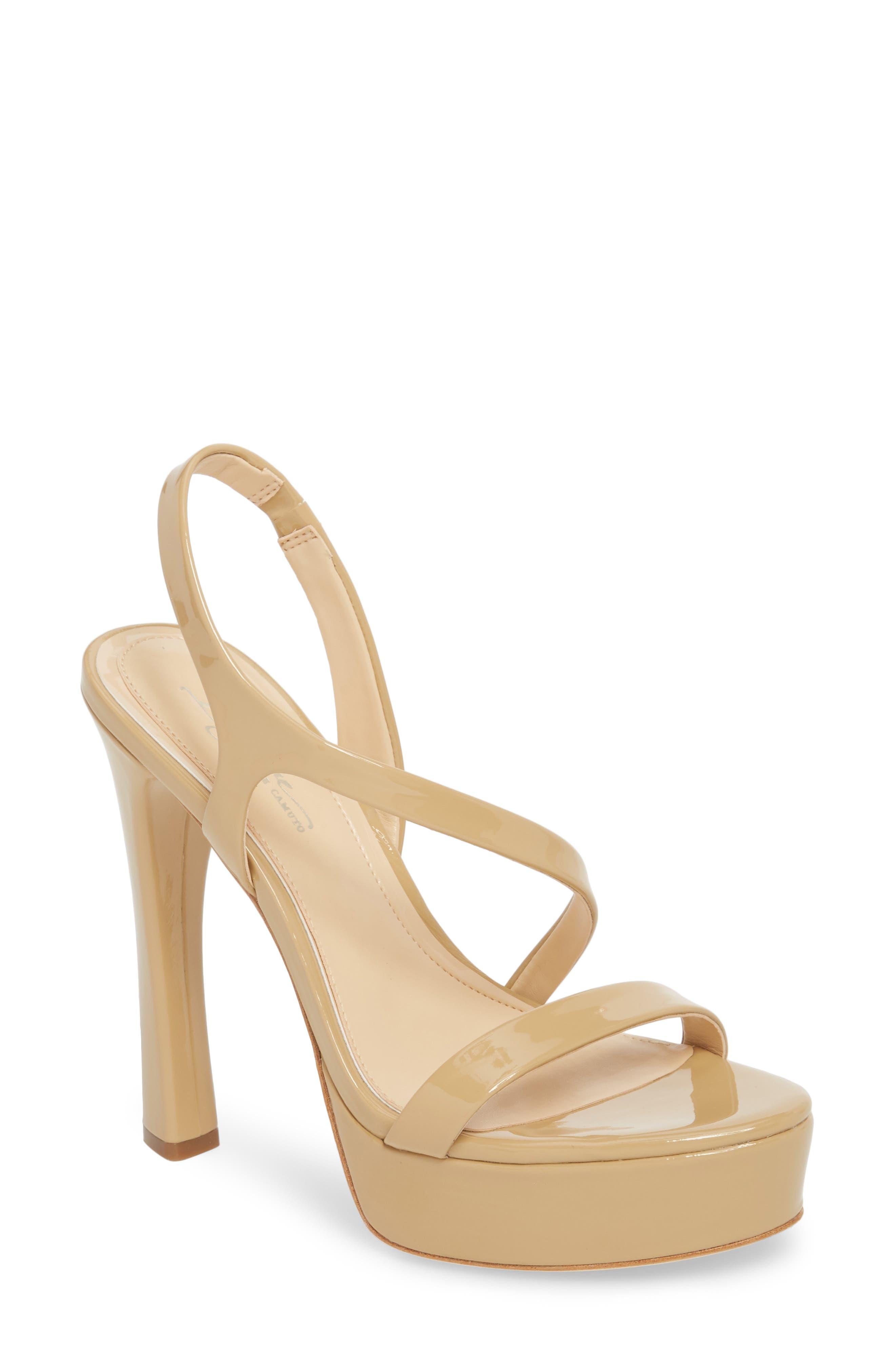 Imagine By Vince Camuto Piera Platform Sandal- Beige