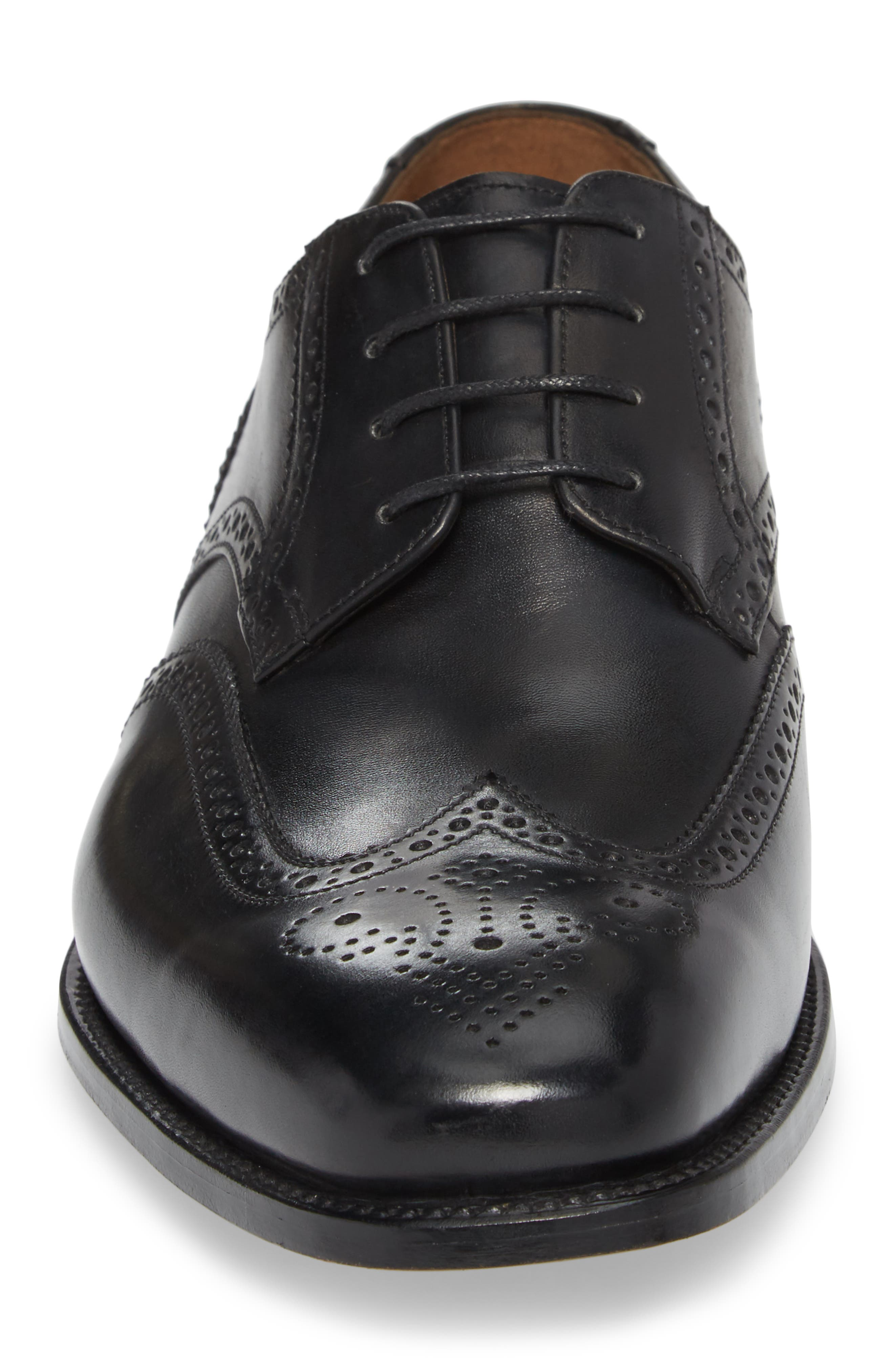 Cavallo Wingtip,                             Alternate thumbnail 4, color,                             BLACK LEATHER