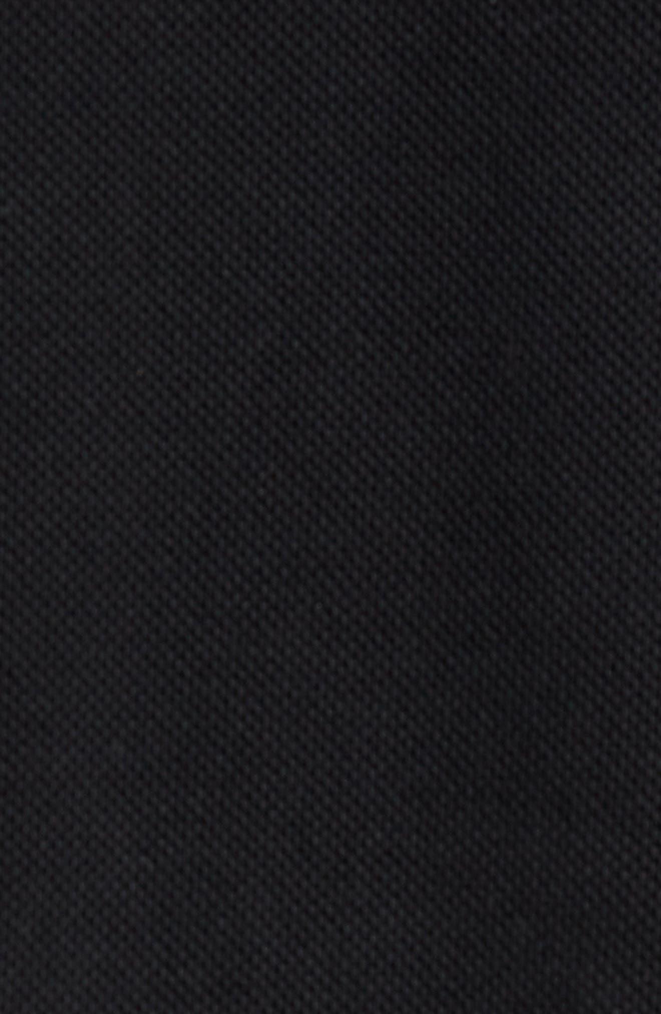 Piqué Quarter Zip Pullover,                             Alternate thumbnail 5, color,                             BLACK