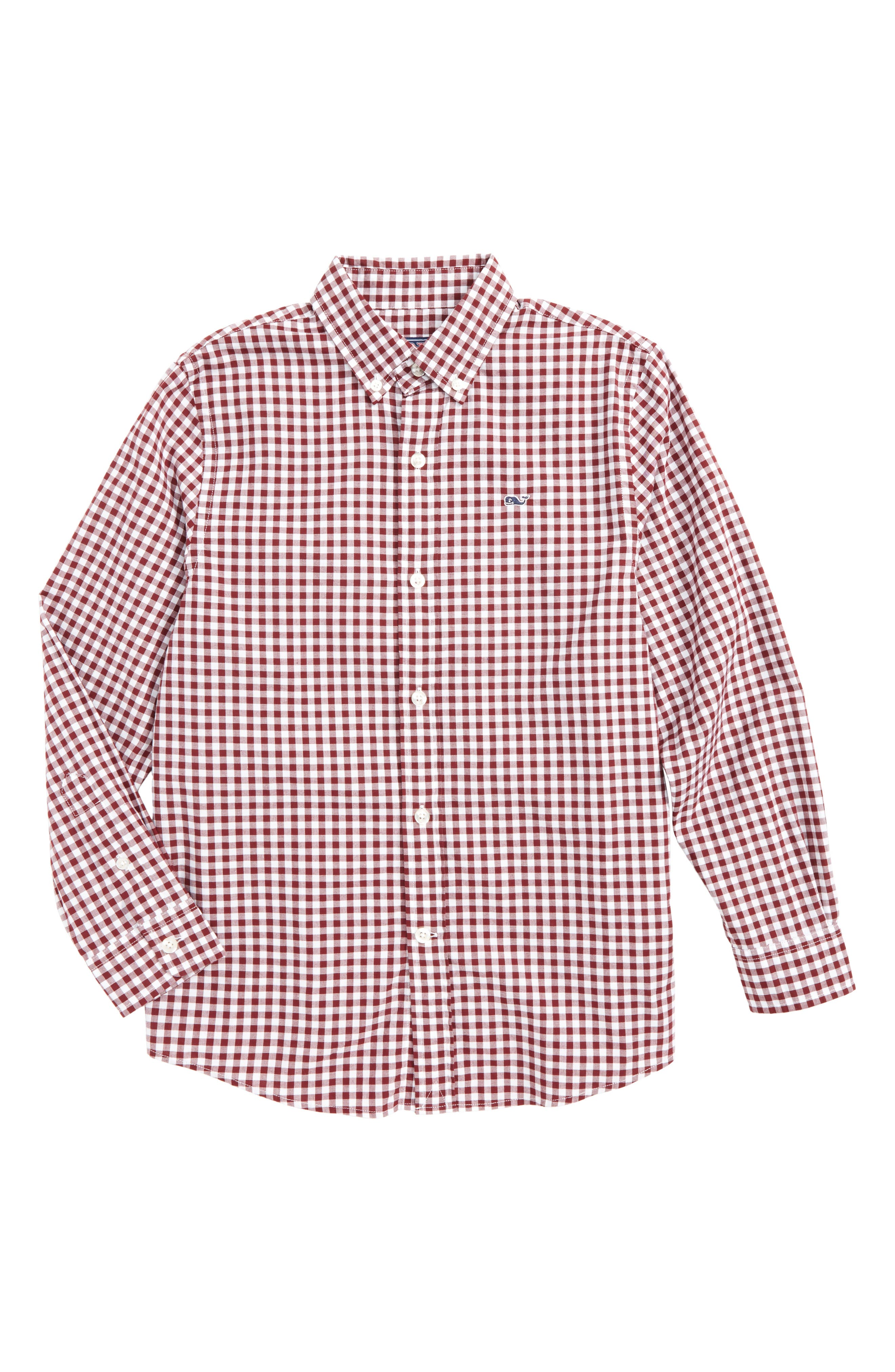 Garden Quarter Gingham Whale Shirt,                             Main thumbnail 1, color,                             603
