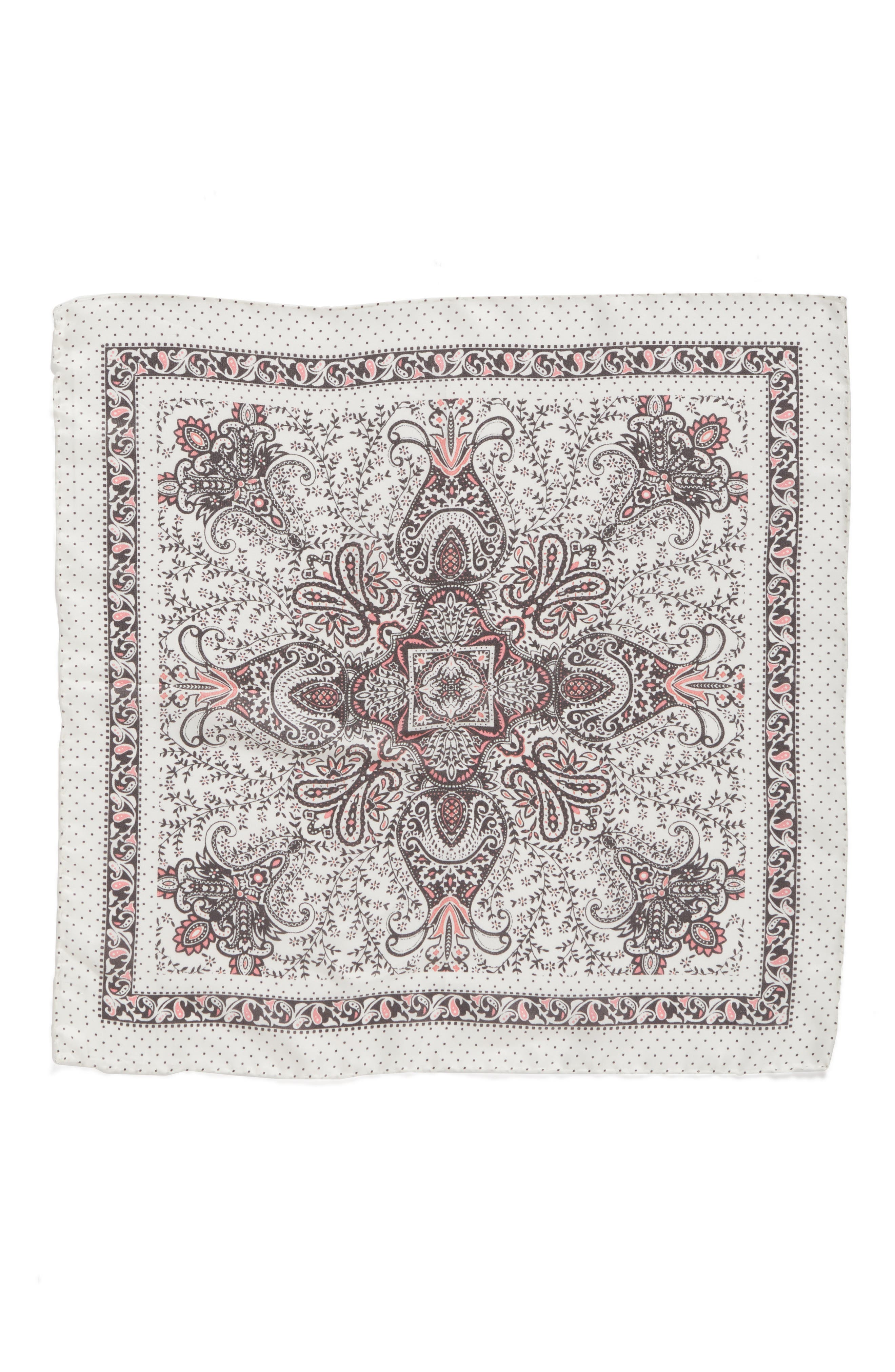 Handkerchief Paisley Silk Scarf,                             Alternate thumbnail 3, color,                             250