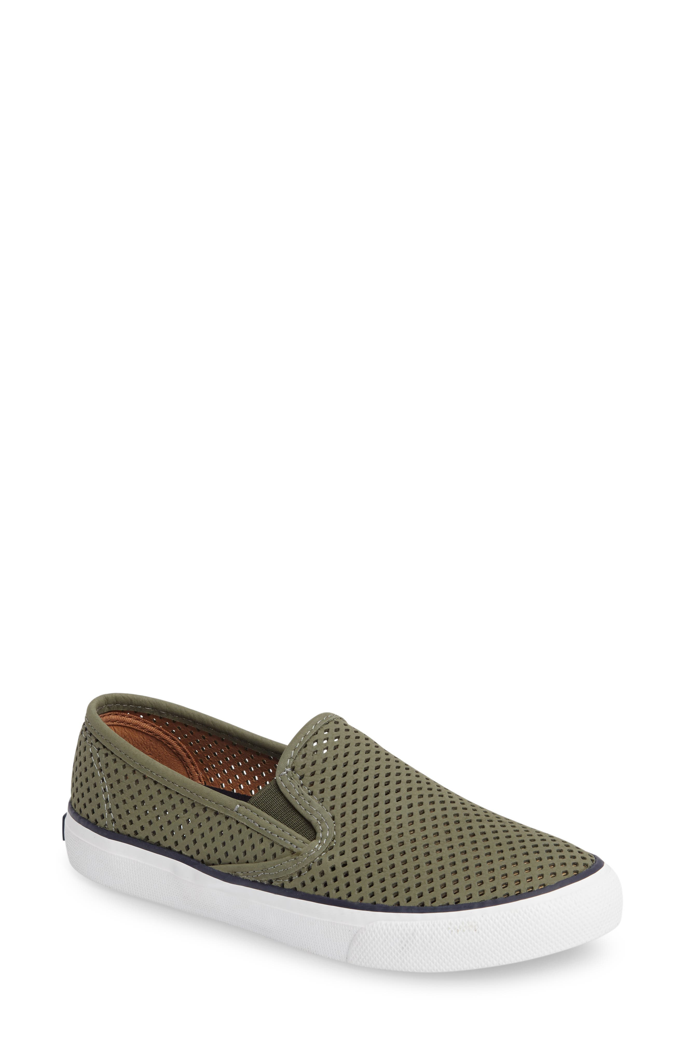 'Seaside' Perforated Slip-On Sneaker,                             Main thumbnail 7, color,