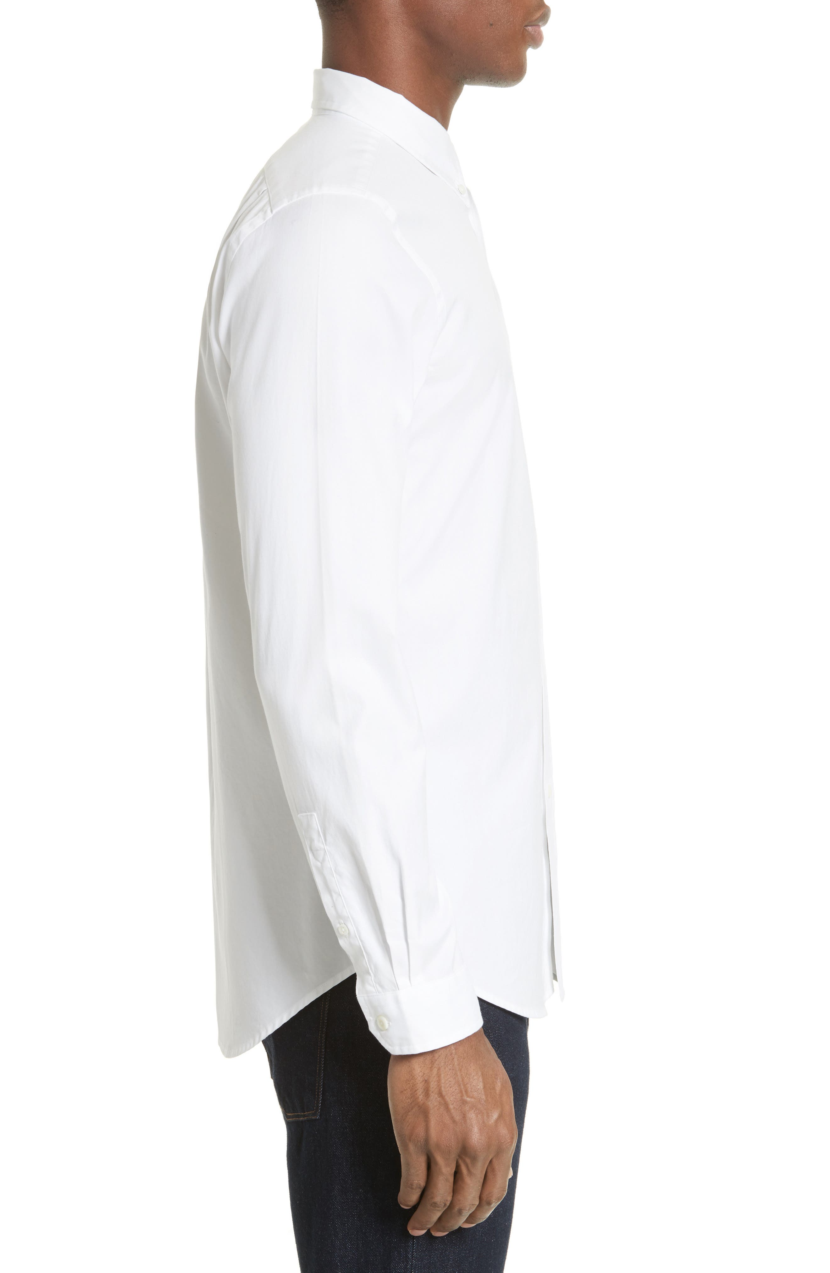 Extra Trim Fit Multi Tab Sport Shirt,                             Alternate thumbnail 4, color,                             100