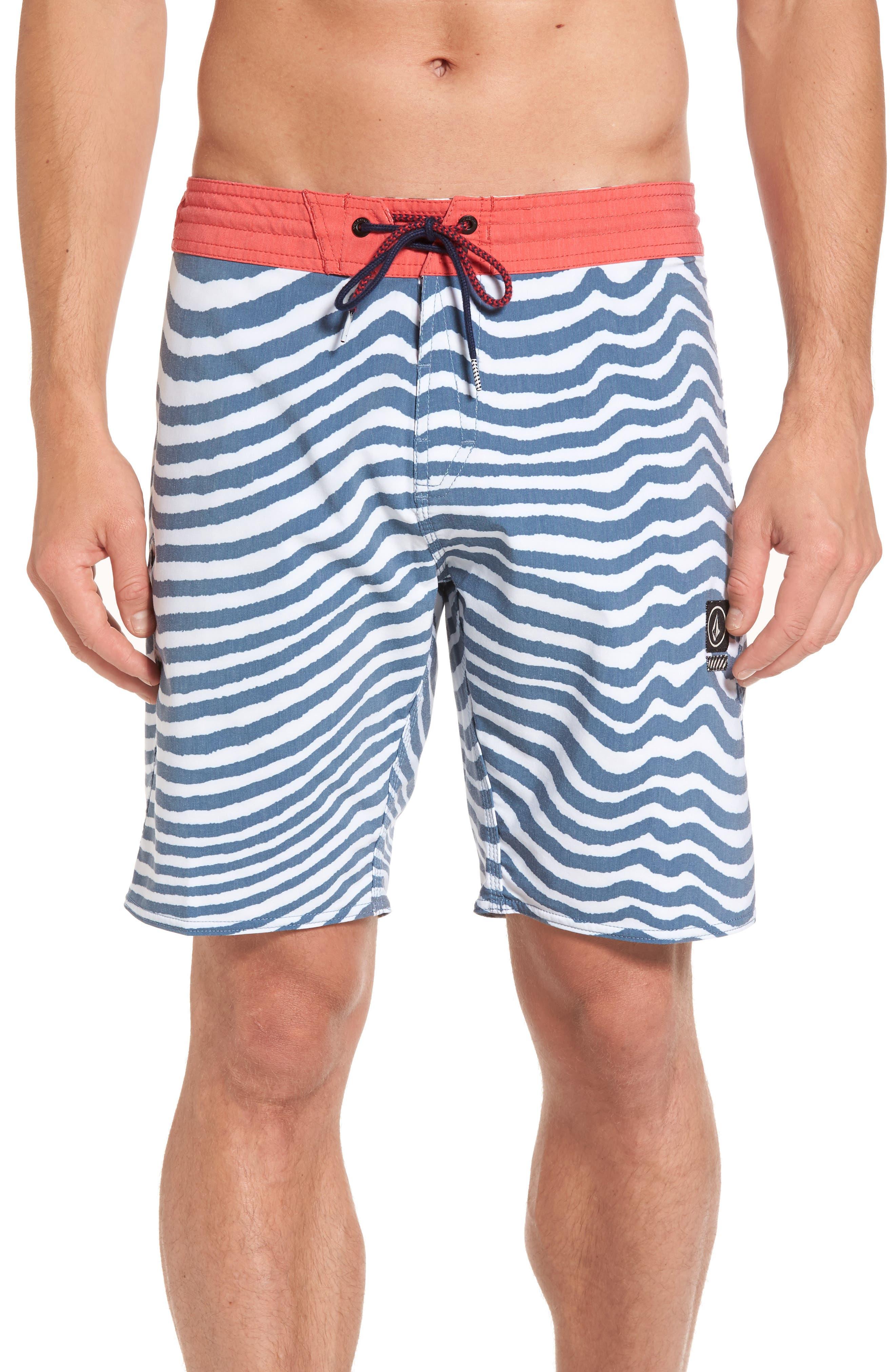 Stripey Slinger Board Shorts,                             Main thumbnail 4, color,
