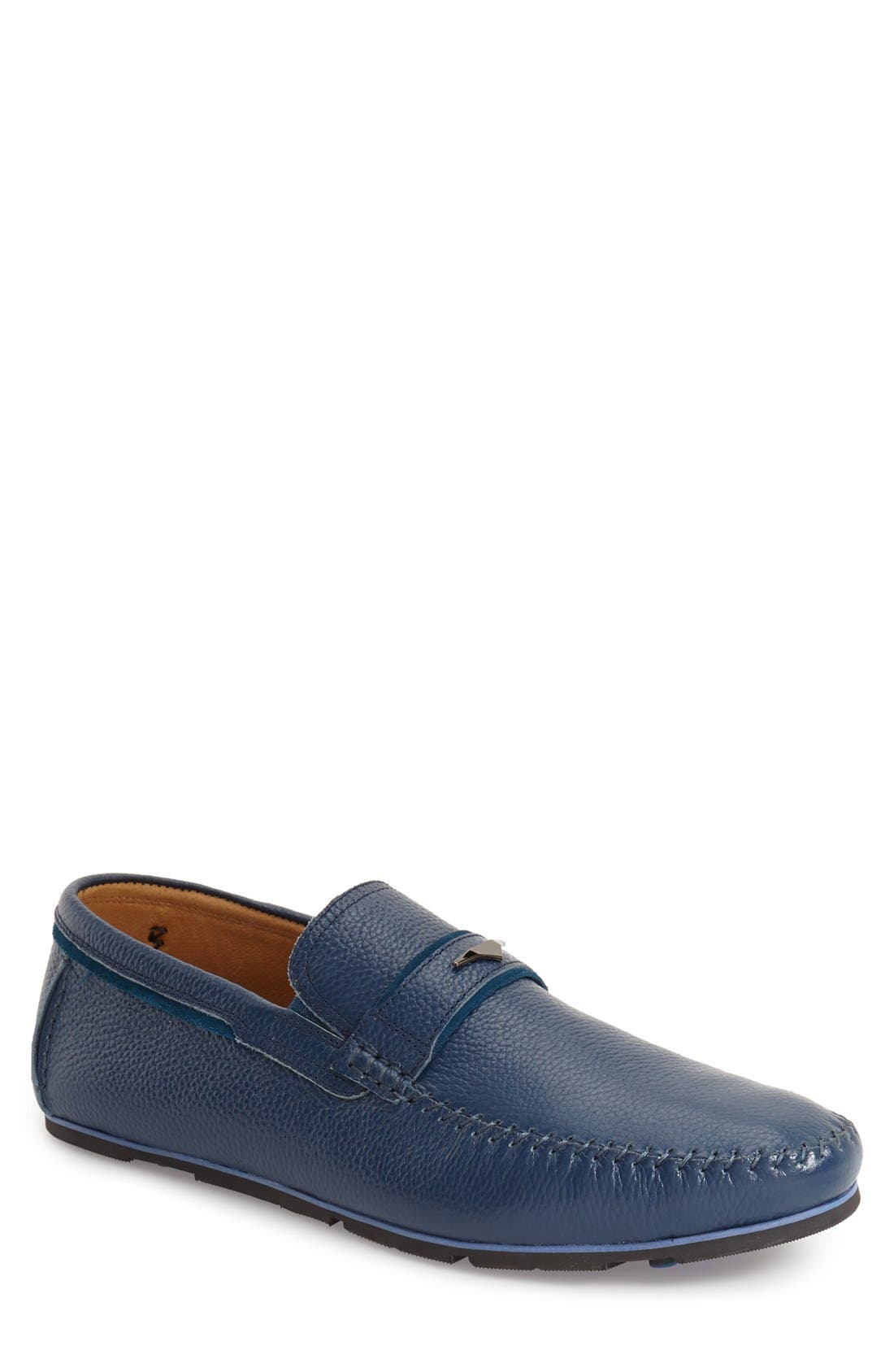Leather Loafer,                             Main thumbnail 1, color,                             400