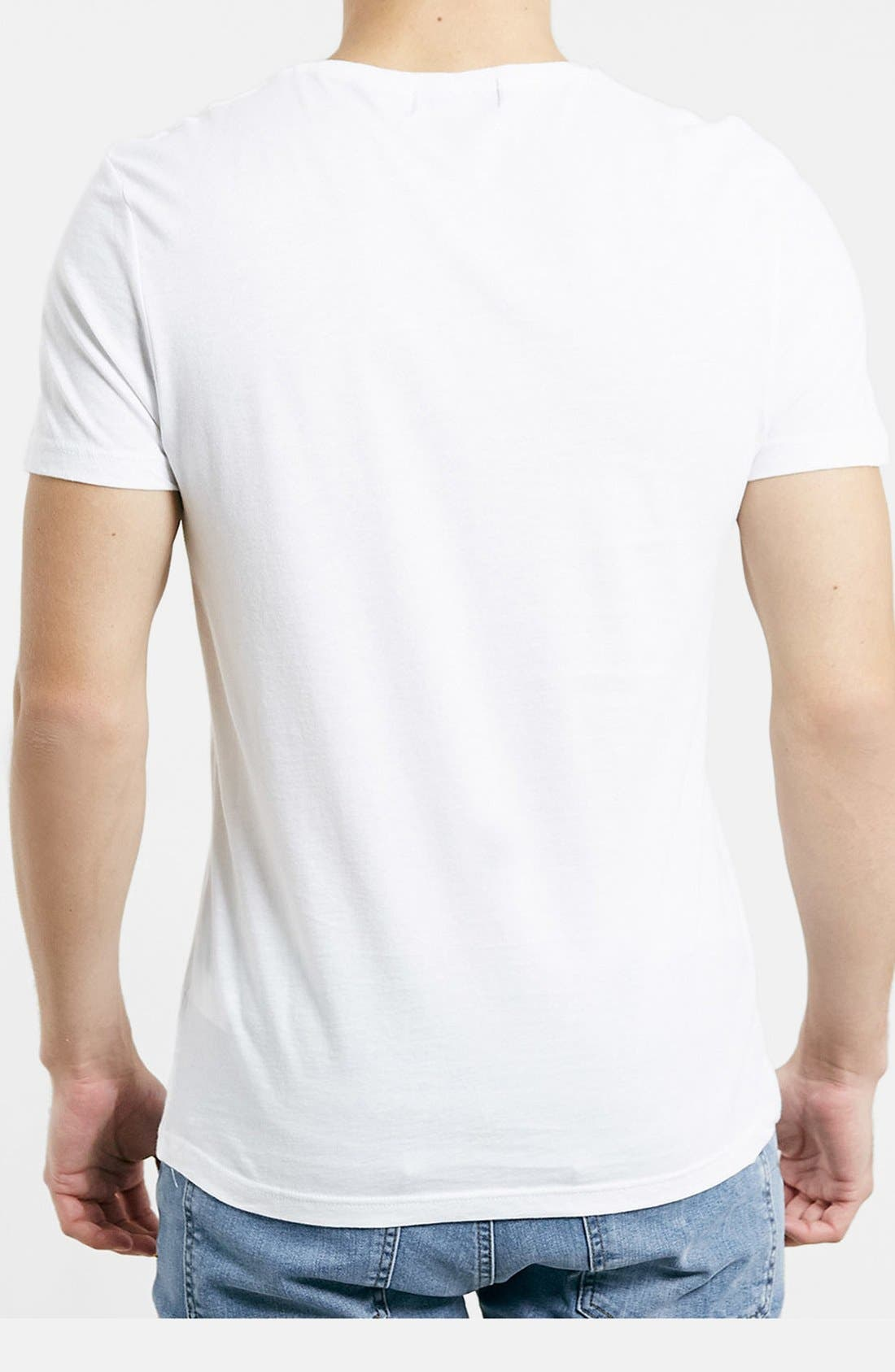 Slim Fit Crewneck T-Shirt,                             Alternate thumbnail 3, color,                             WHITE