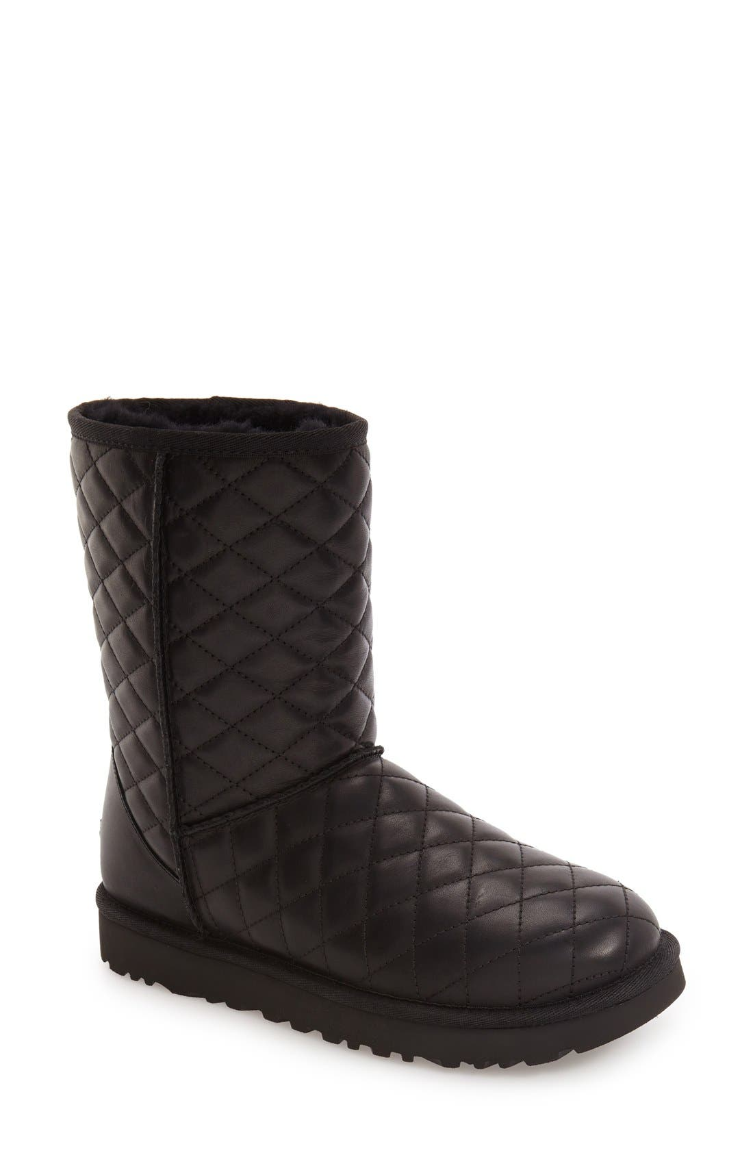 UGG<SUP>®</SUP>,                             Classic Short Quilted Boot,                             Main thumbnail 1, color,                             001