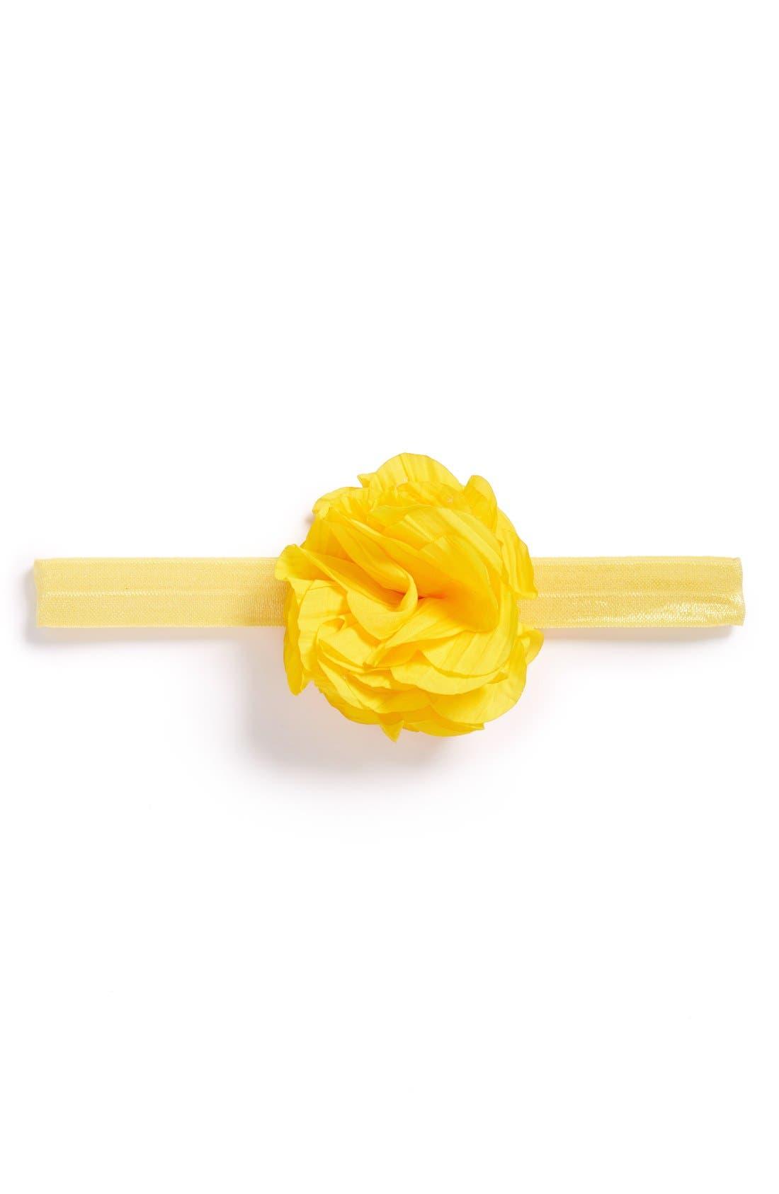 PLH BOWS,                             Flower Headband,                             Main thumbnail 1, color,                             YELLOW