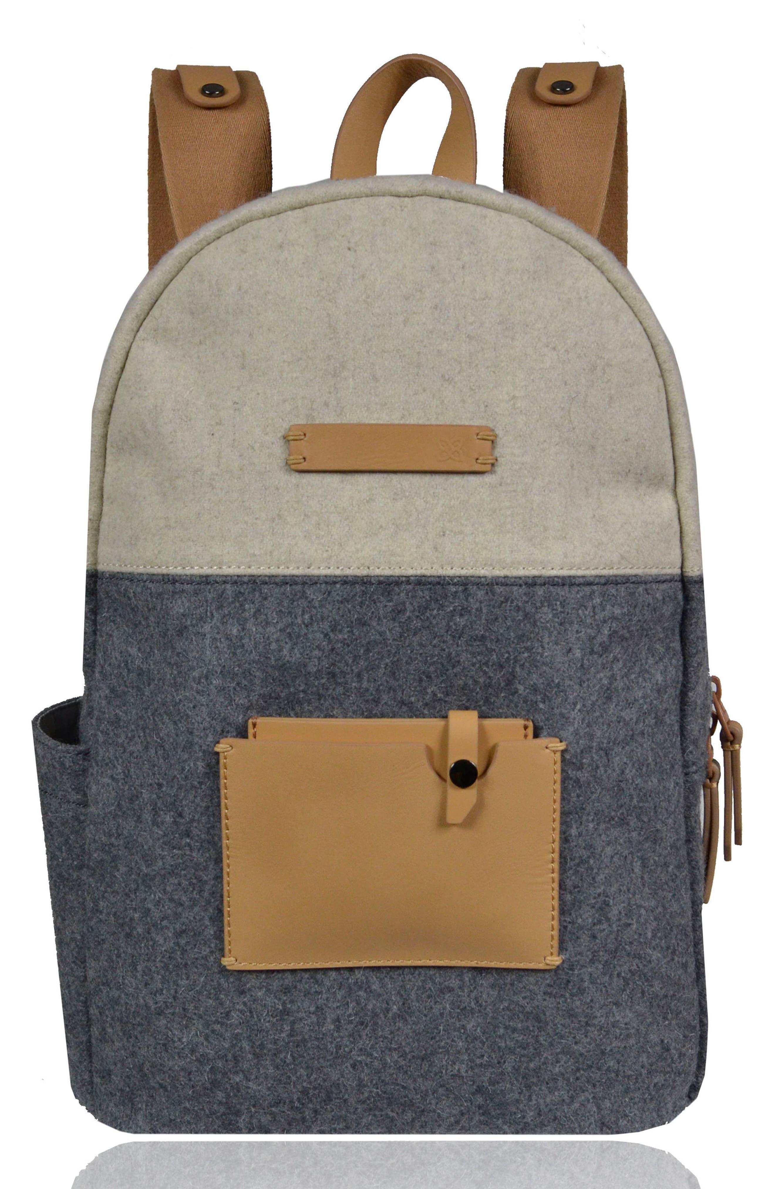 Indie Boiled Wool Backpack,                             Main thumbnail 1, color,