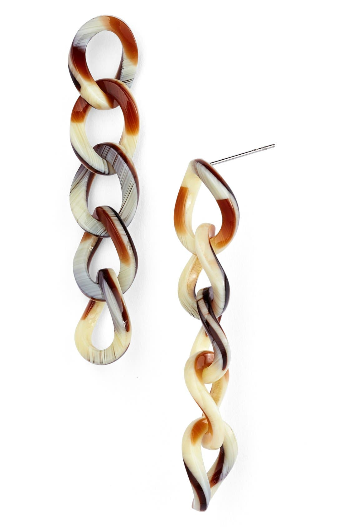 'Linear' Link Drop Earrings,                             Main thumbnail 7, color,