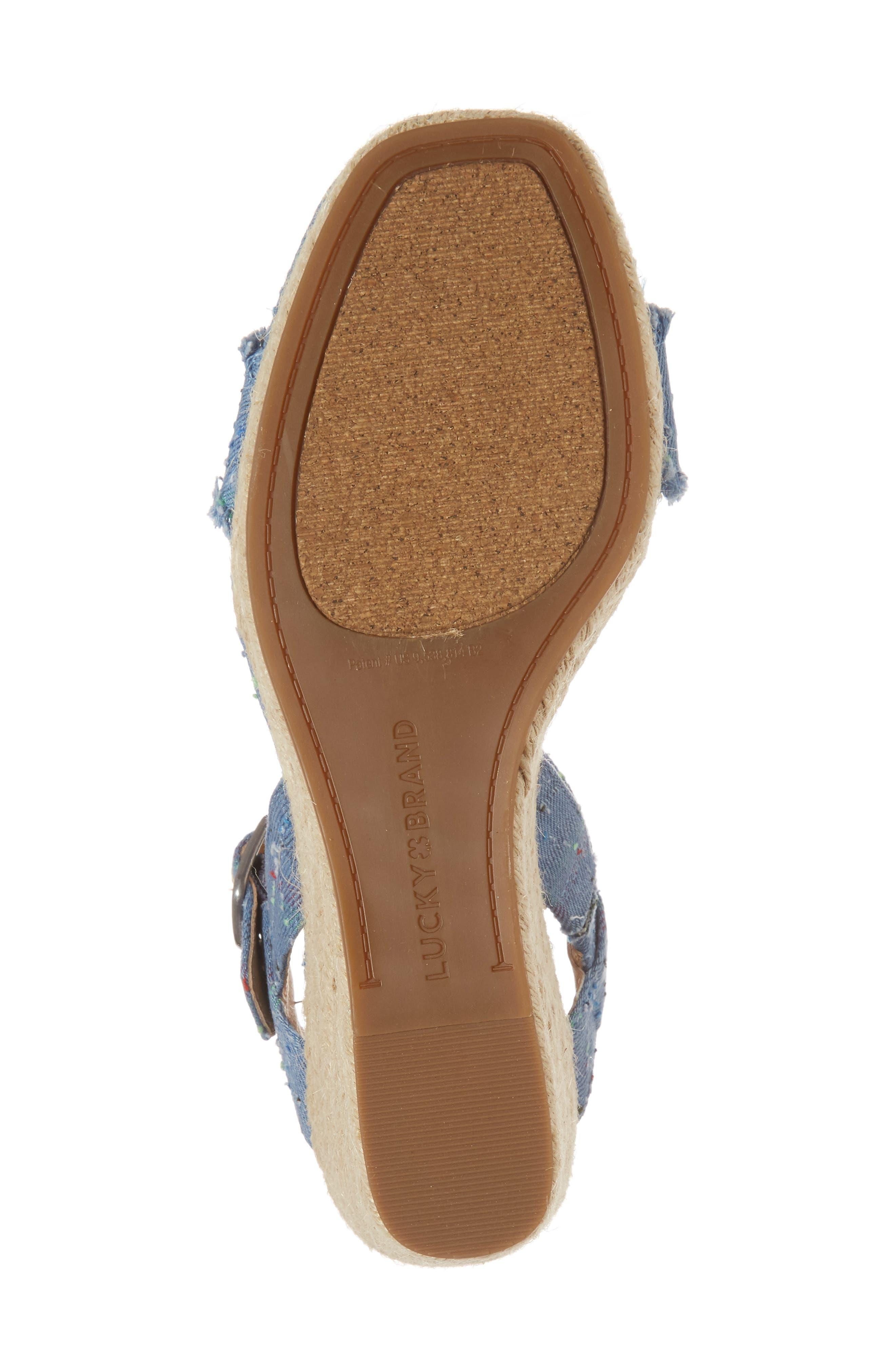 Marceline Squared Toe Wedge Sandal,                             Alternate thumbnail 40, color,