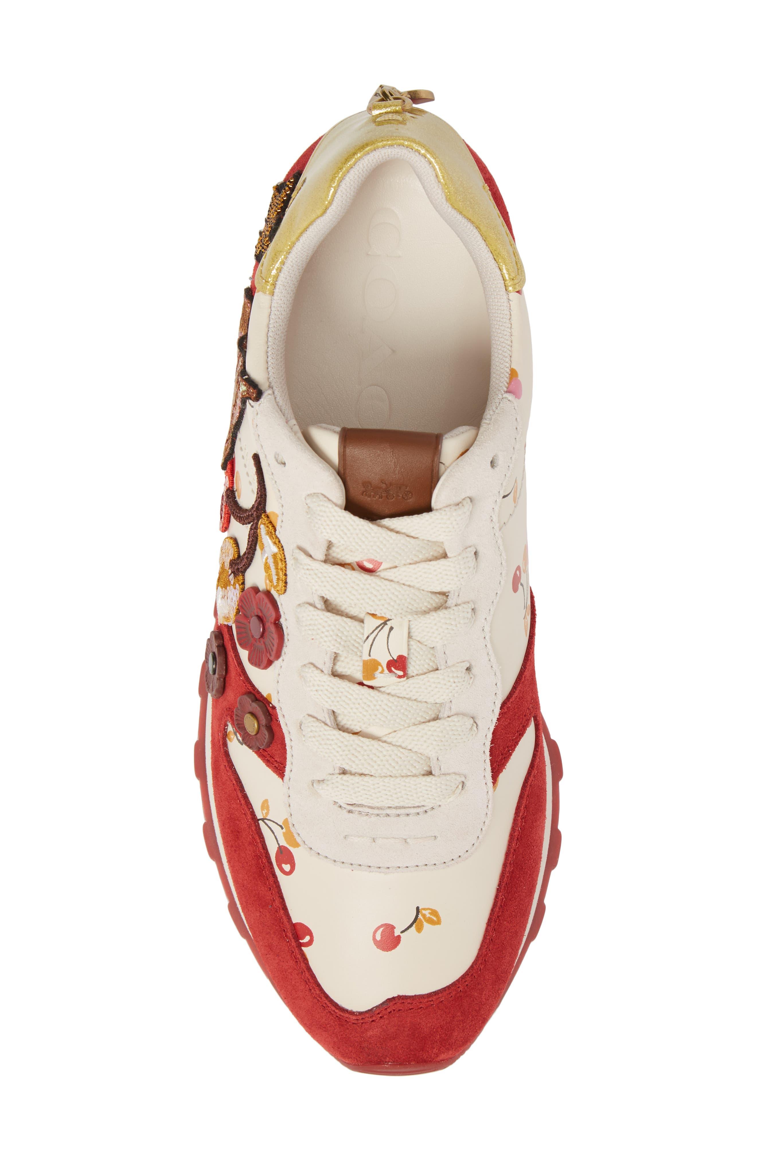 Patch Runner Sneaker,                             Alternate thumbnail 5, color,                             100