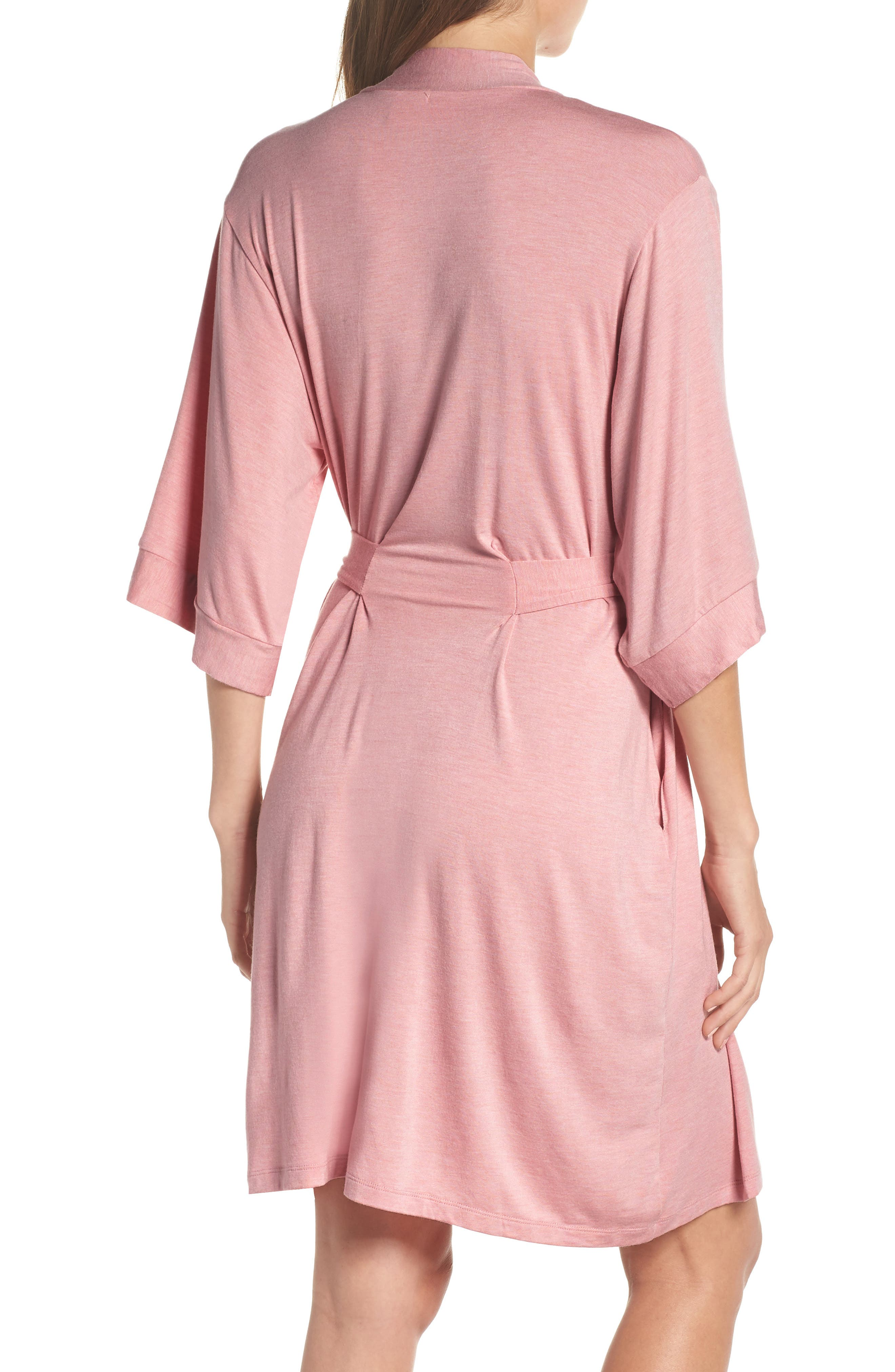 Short Robe,                             Alternate thumbnail 2, color,                             VINTAGE PINK