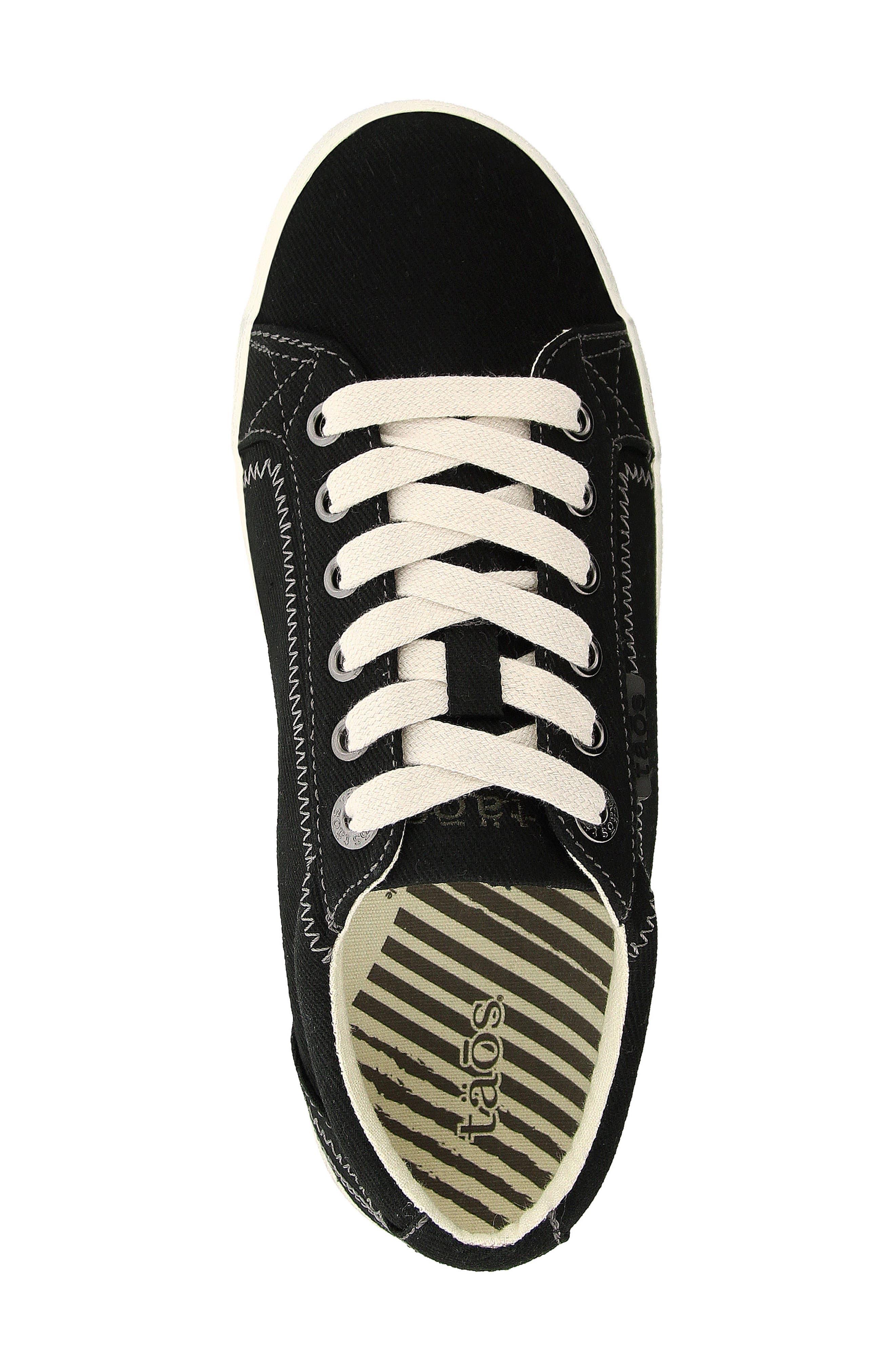 'Star' Sneaker,                             Alternate thumbnail 4, color,                             BLACK CANVAS