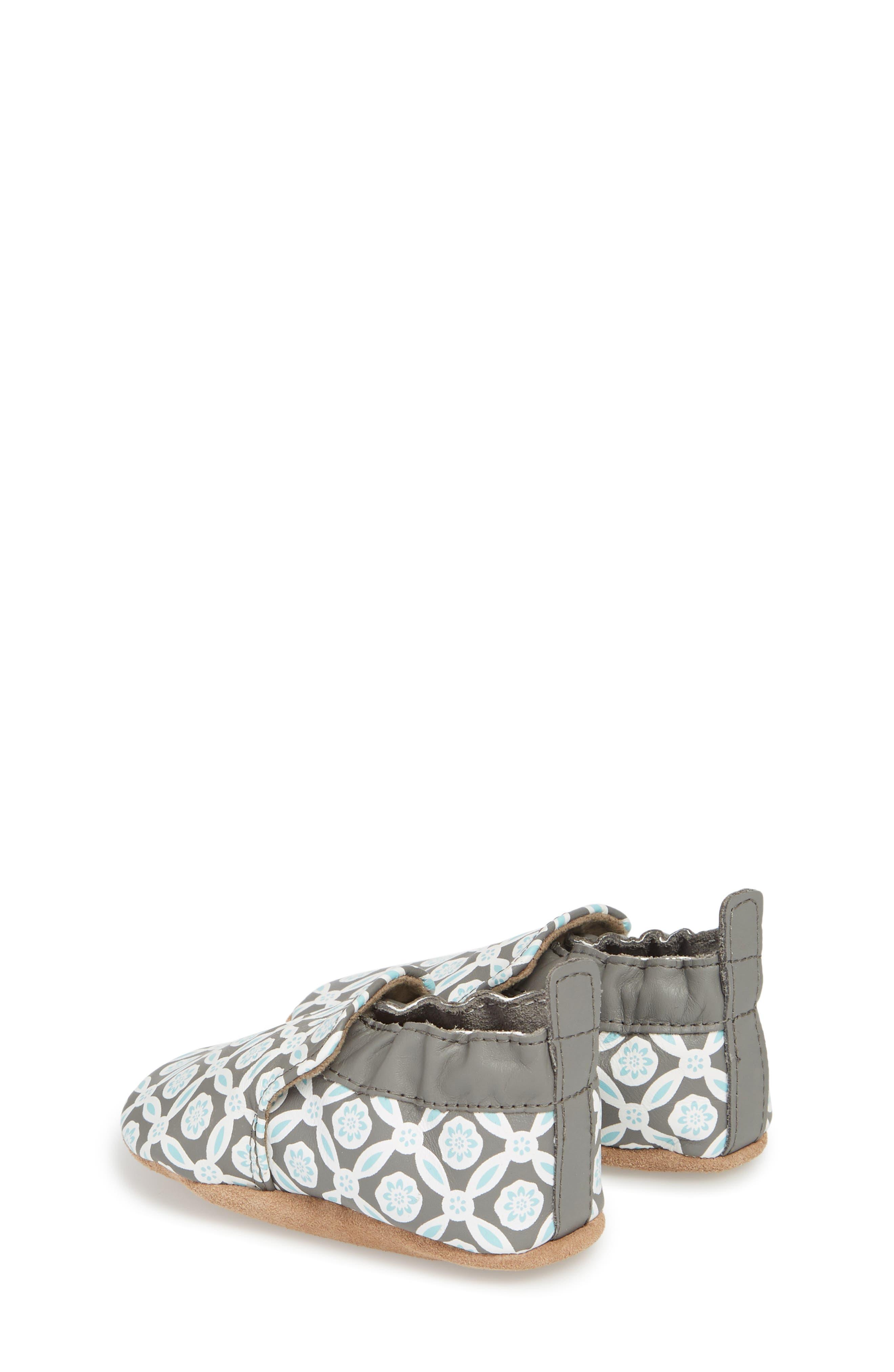 Khloe Moccasin Crib Shoe,                             Alternate thumbnail 2, color,                             CHARCOAL