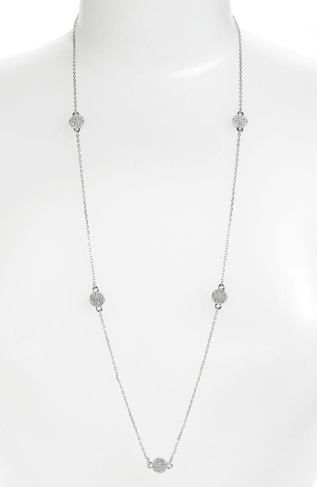 'bright spot' long station necklace,                         Main,                         color, 040