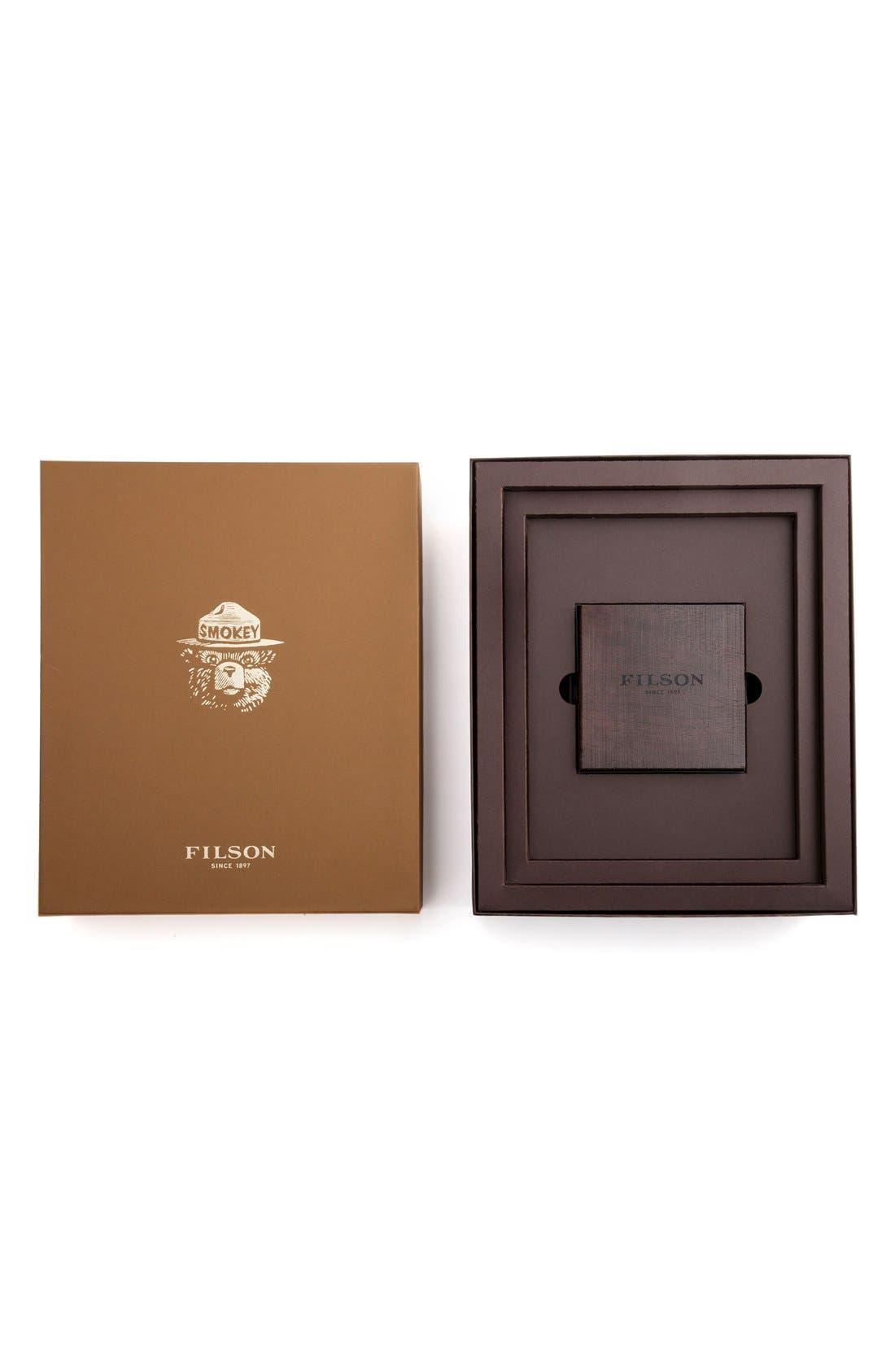 SHINOLA,                             x Filson The Smokey Bear Leather Strap Watch Gift Set, 43mm,                             Alternate thumbnail 2, color,                             200