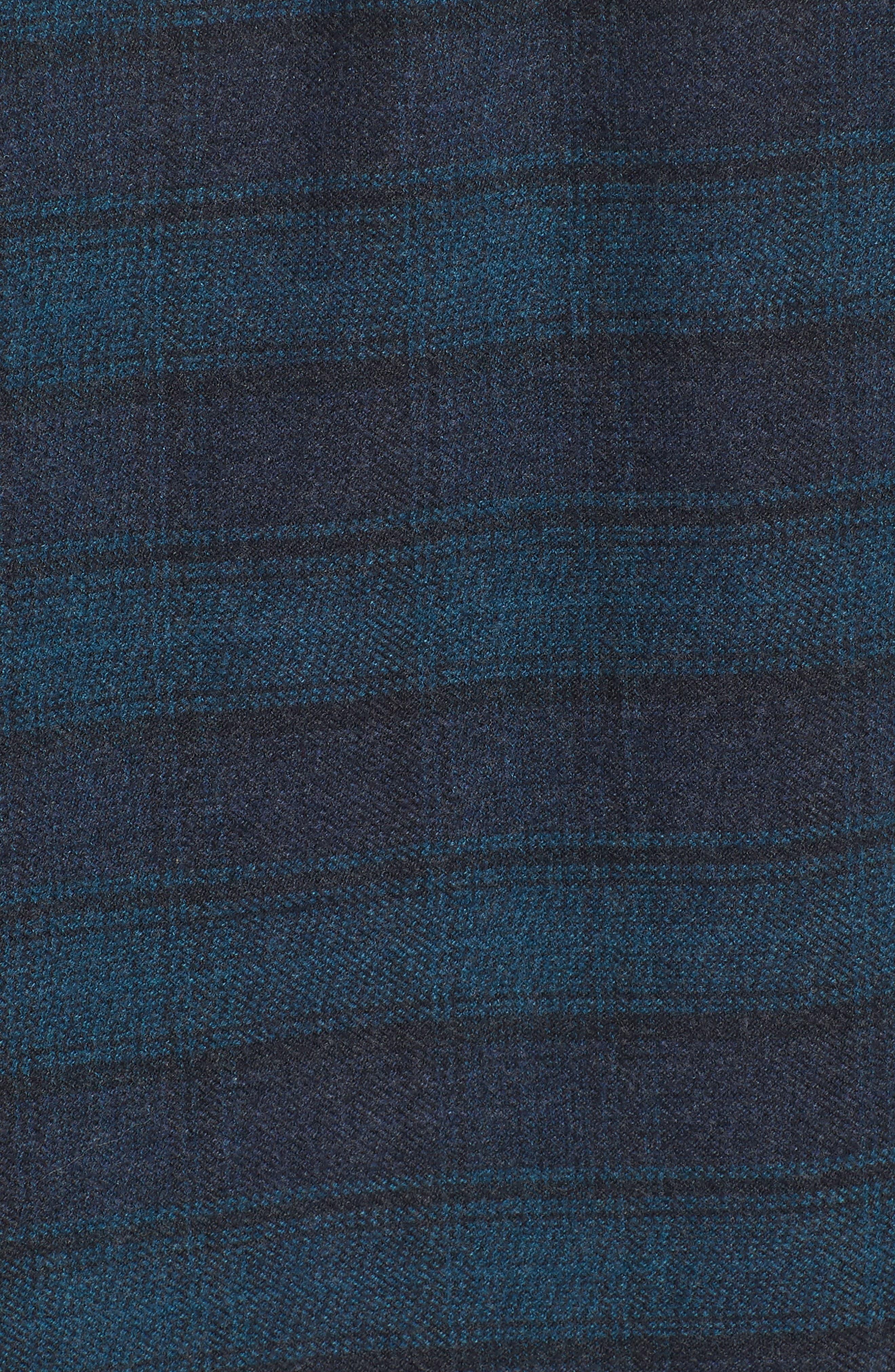 Cortland Heritage Modern Fit Flannel Sport Shirt,                             Alternate thumbnail 5, color,                             341