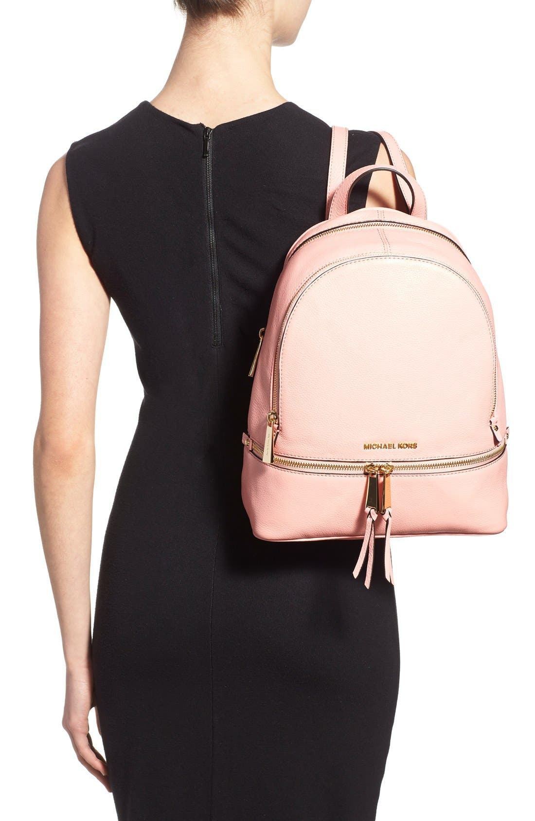 'Extra Small Rhea Zip' Leather Backpack,                             Alternate thumbnail 25, color,
