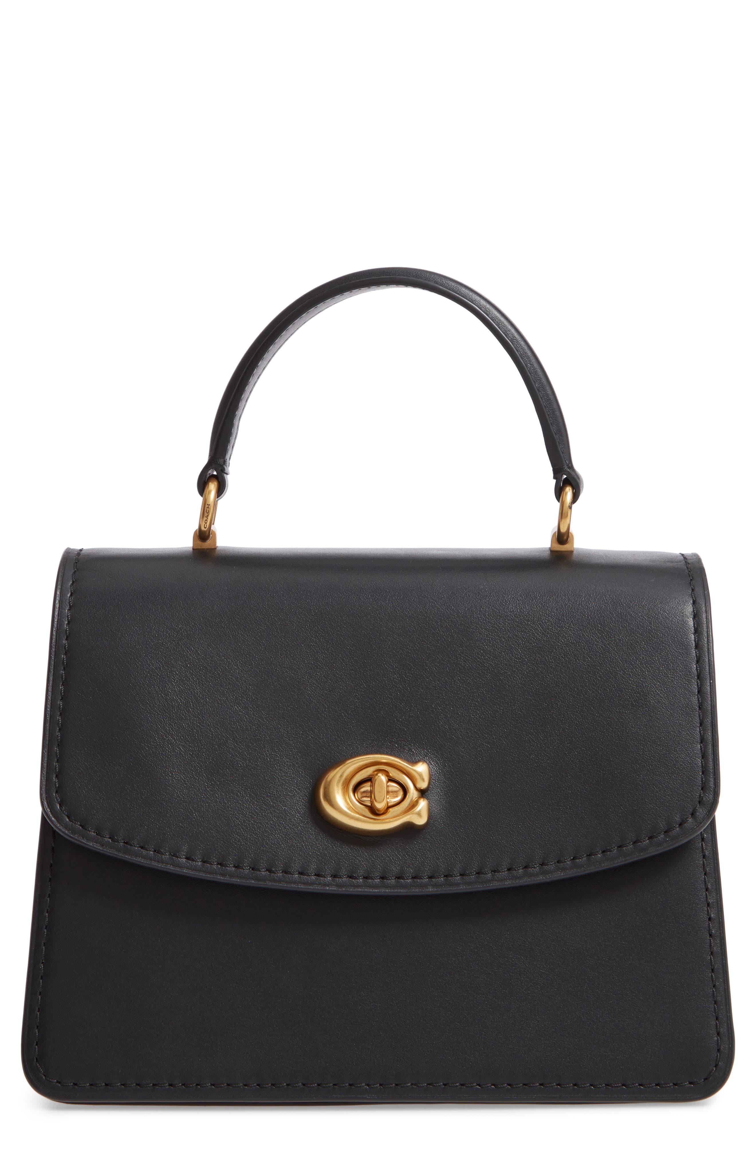 COACH Parker Signature Canvas & Leather Top Handle Shoulder Bag, Main, color, B4/ BLACK