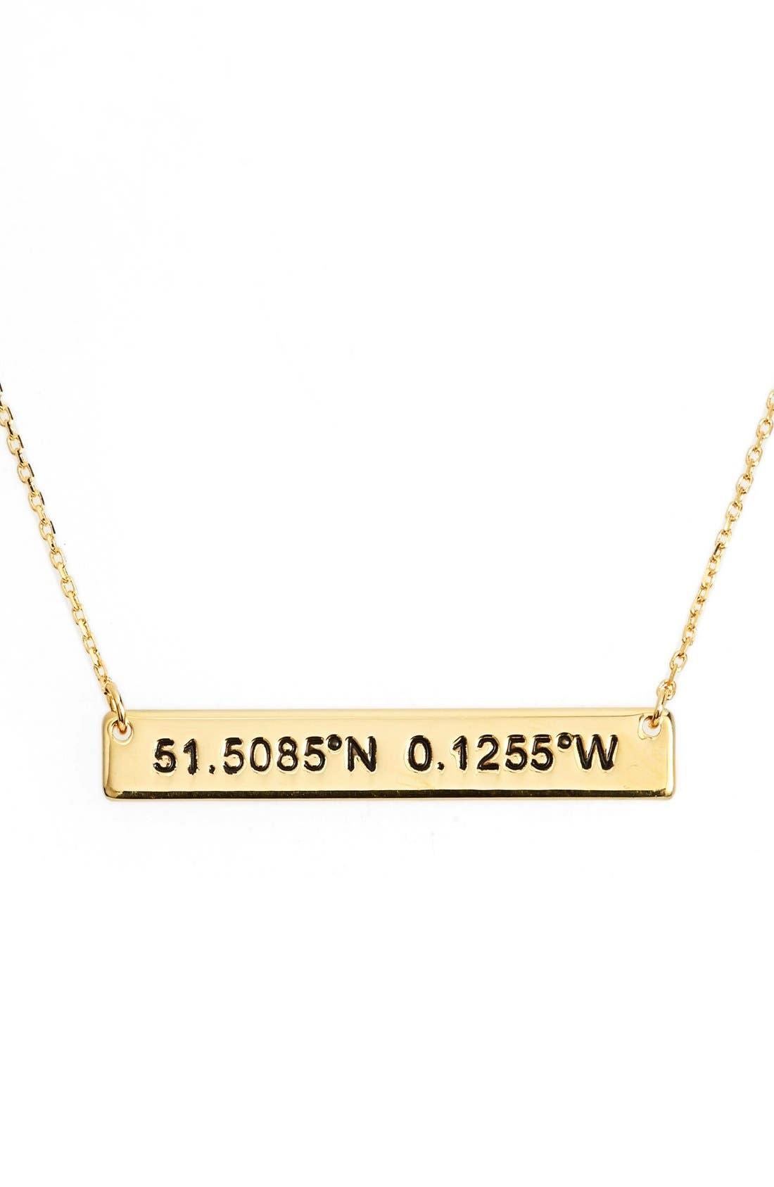Coordinate Bar Pendant Necklace,                             Main thumbnail 2, color,