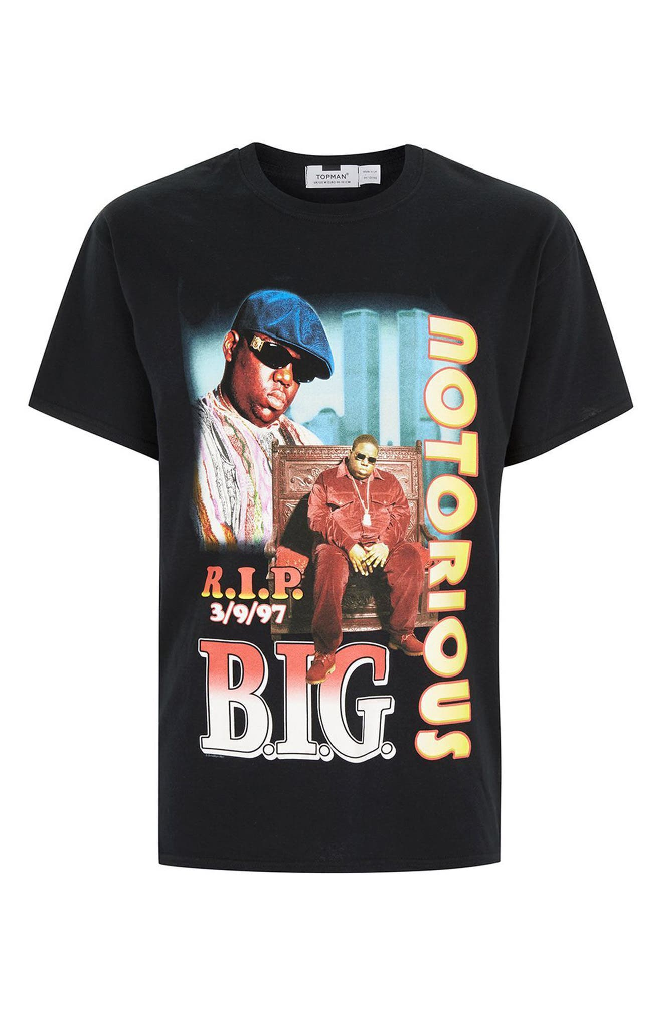Biggie RIP T-Shirt,                             Alternate thumbnail 4, color,                             020