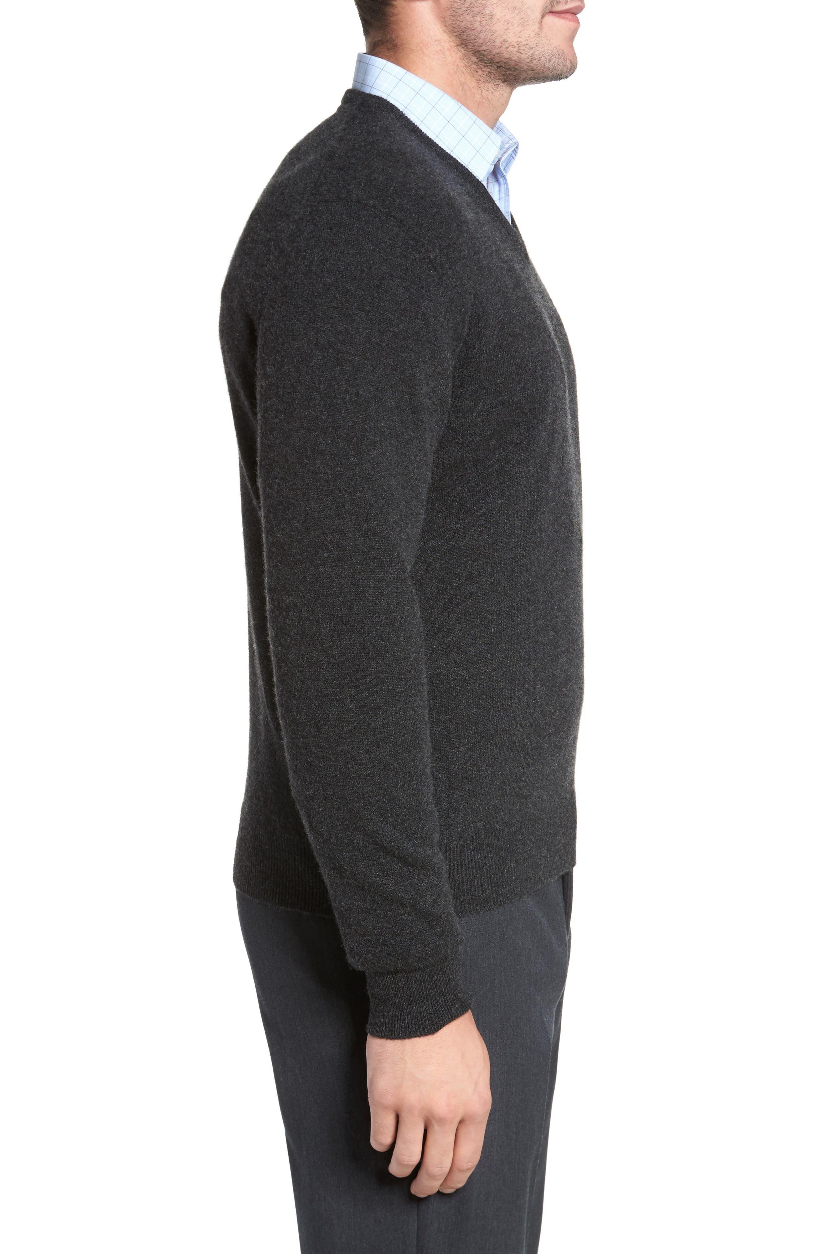 Cashmere V-Neck Sweater,                             Alternate thumbnail 13, color,