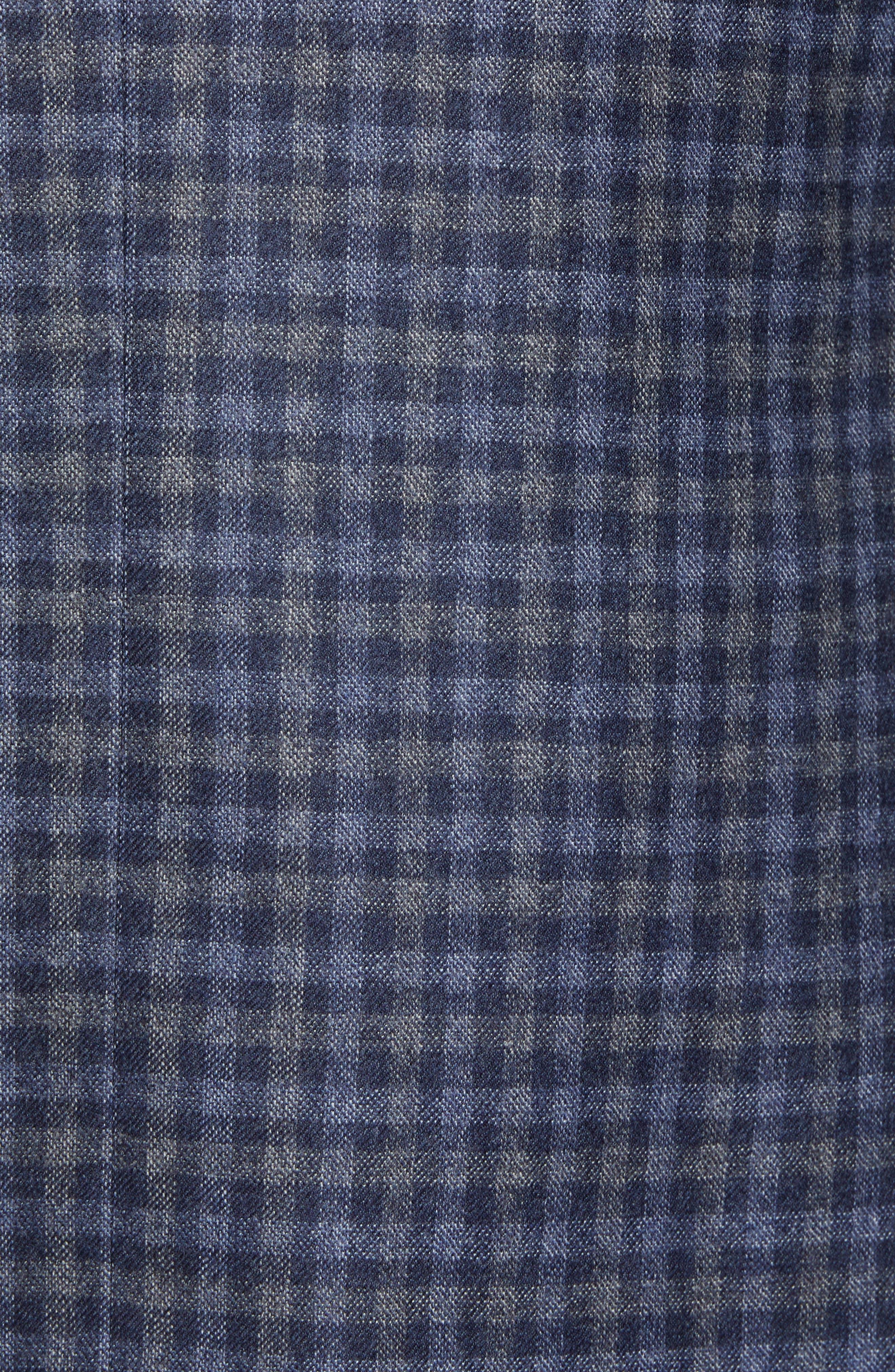 Traditional Fit Check Wool Sport Coat,                             Alternate thumbnail 6, color,                             DENIM BLUE