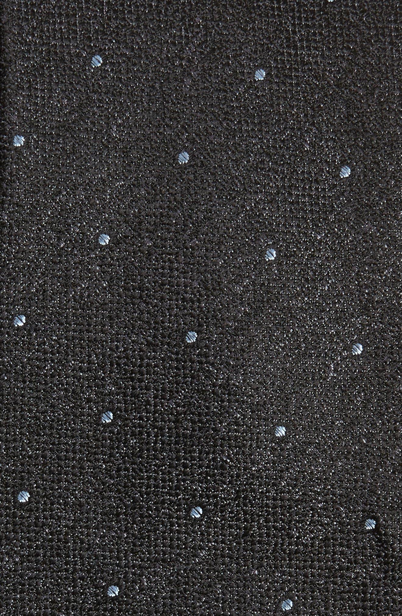 Mangan Dot Silk Tie,                             Alternate thumbnail 2, color,                             BLACK