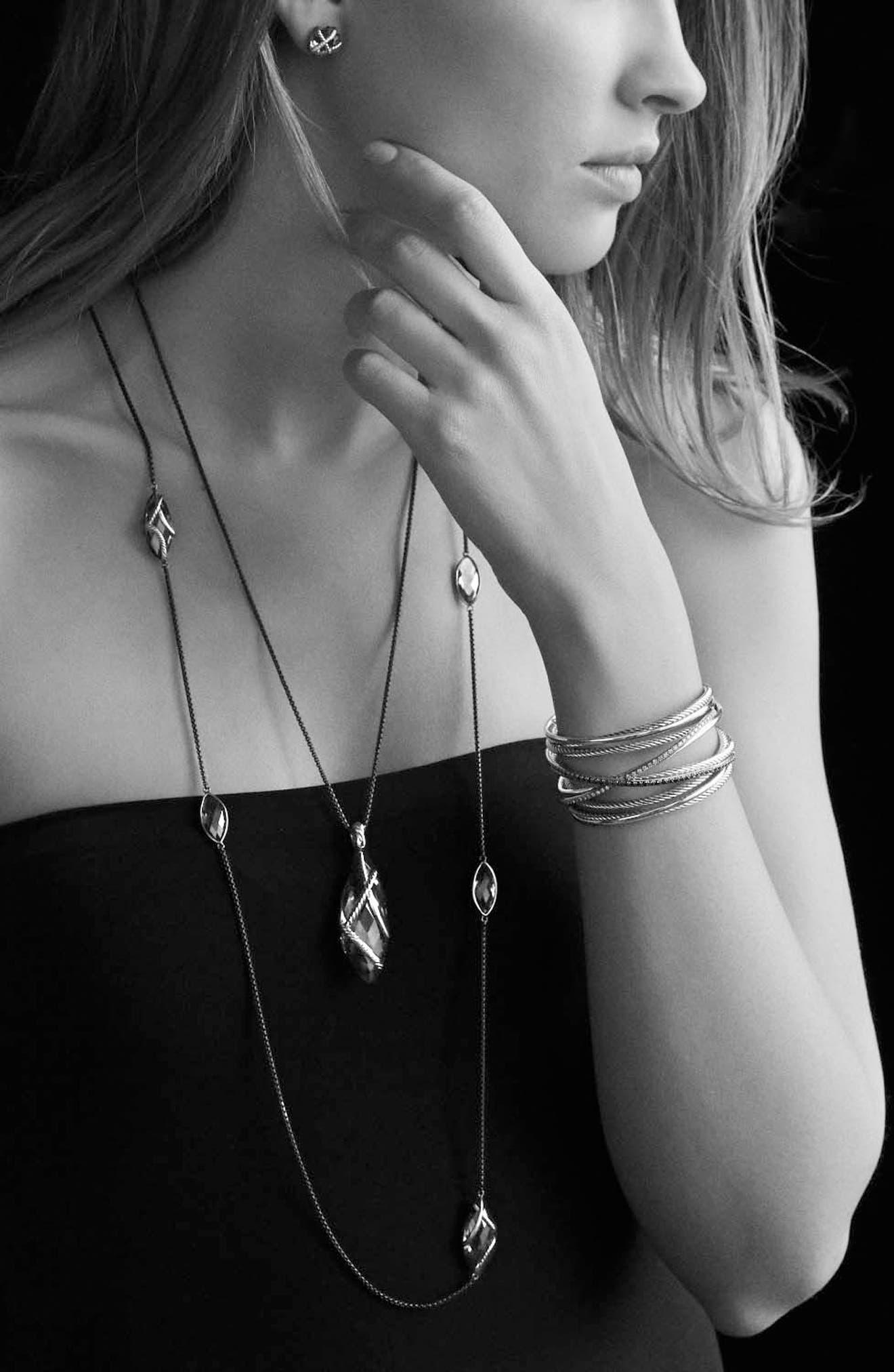 'Chain' Box Chain Necklace,                             Alternate thumbnail 3, color,                             SILVER